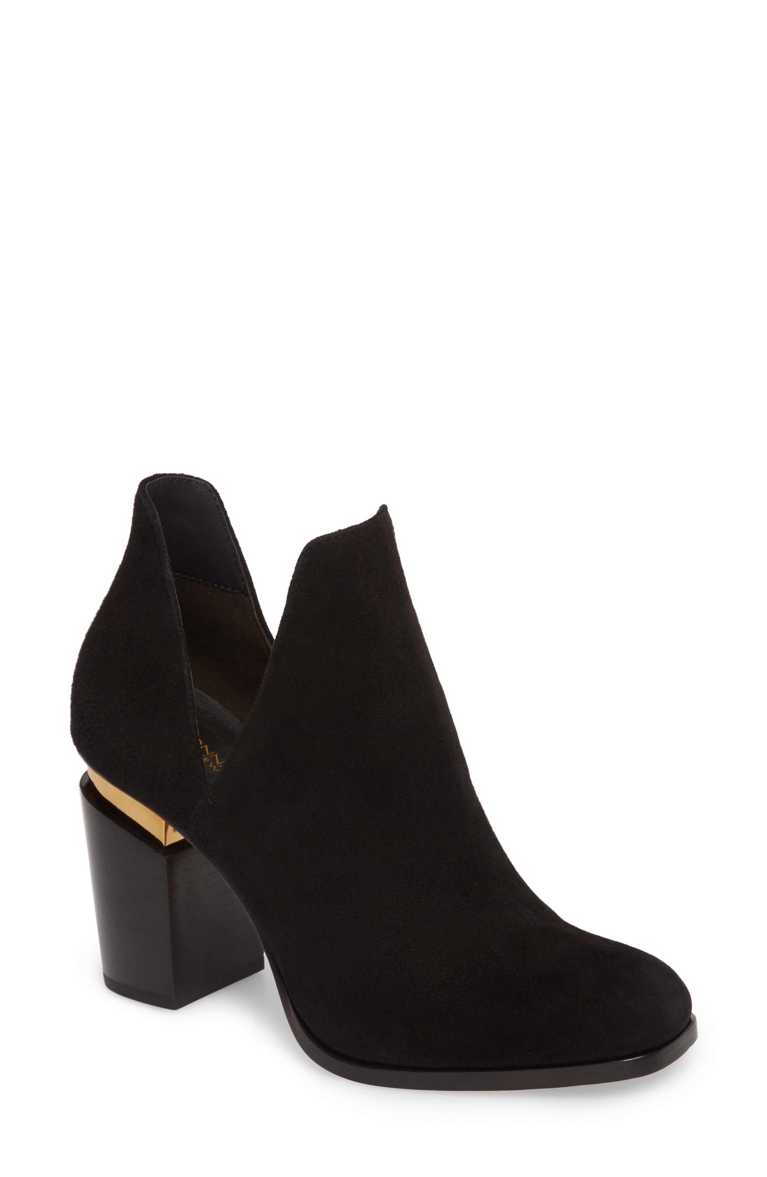 Donna Karan Astor Block Heel Bootie (Women)
