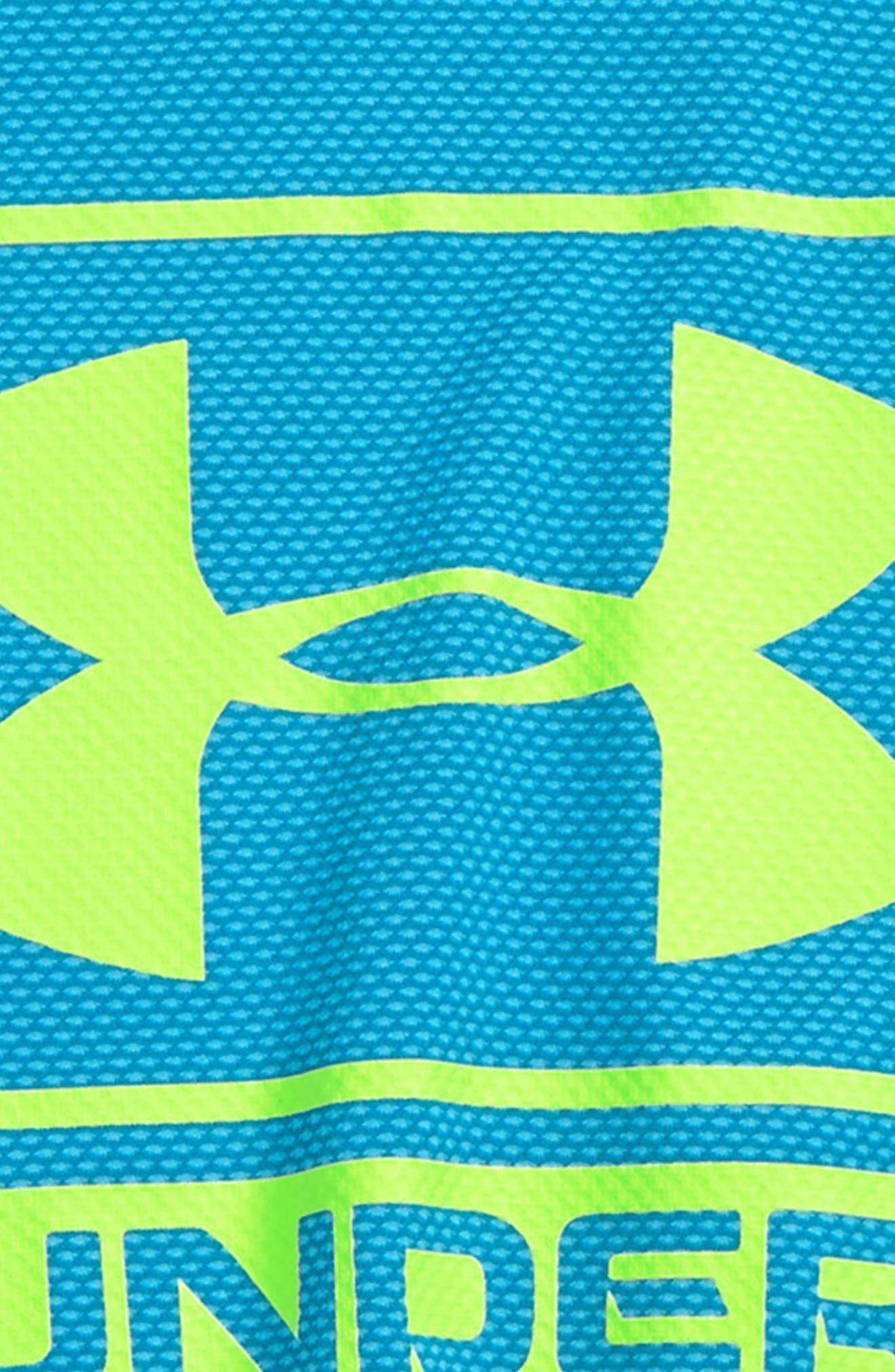 Logo Tech Shirt,                             Alternate thumbnail 2, color,                             Cruise Blue/ Quirky Lime