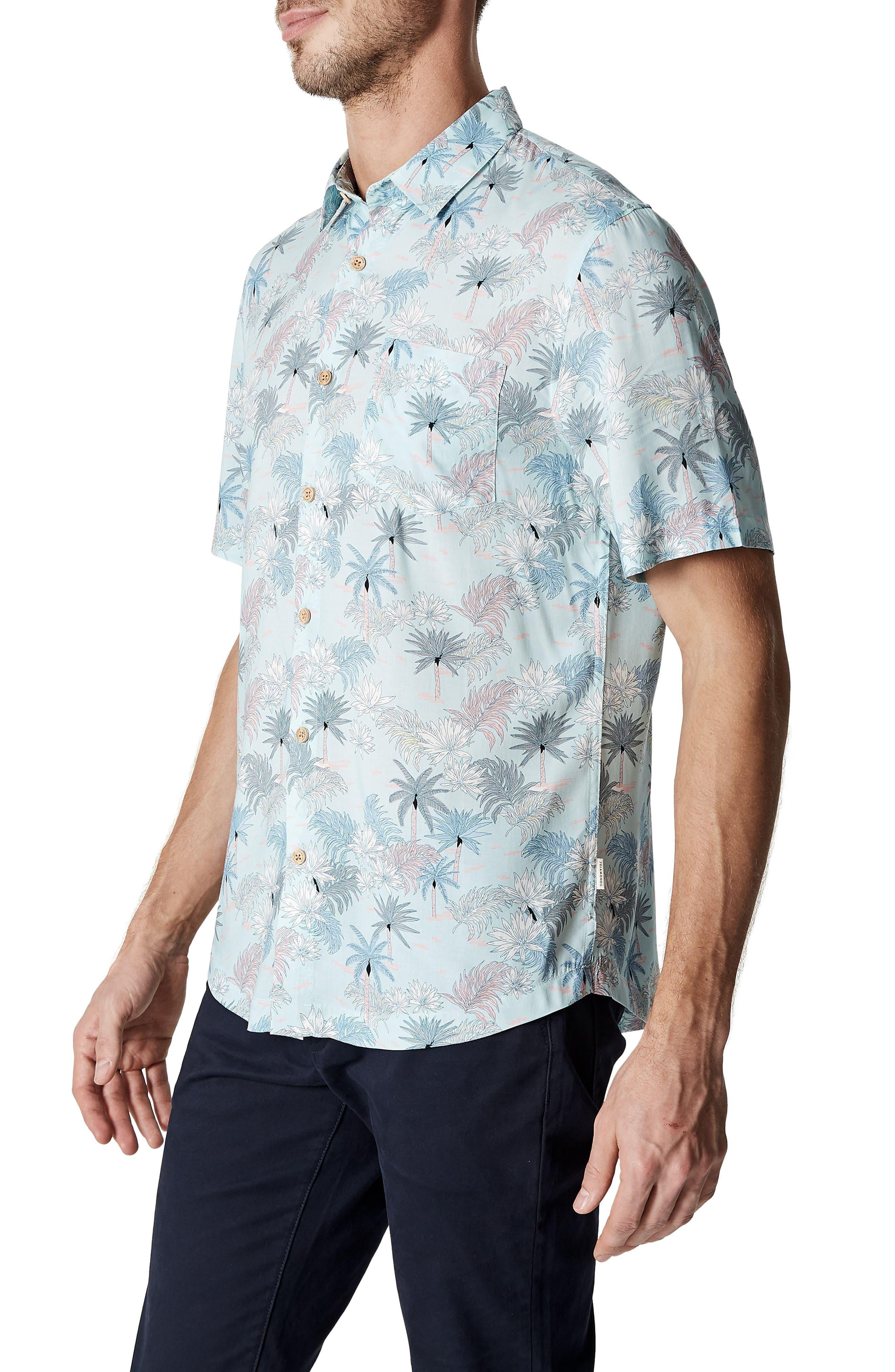 Rebel Music Trim Fit Short Sleeve Sport Shirt,                             Alternate thumbnail 3, color,                             Mint
