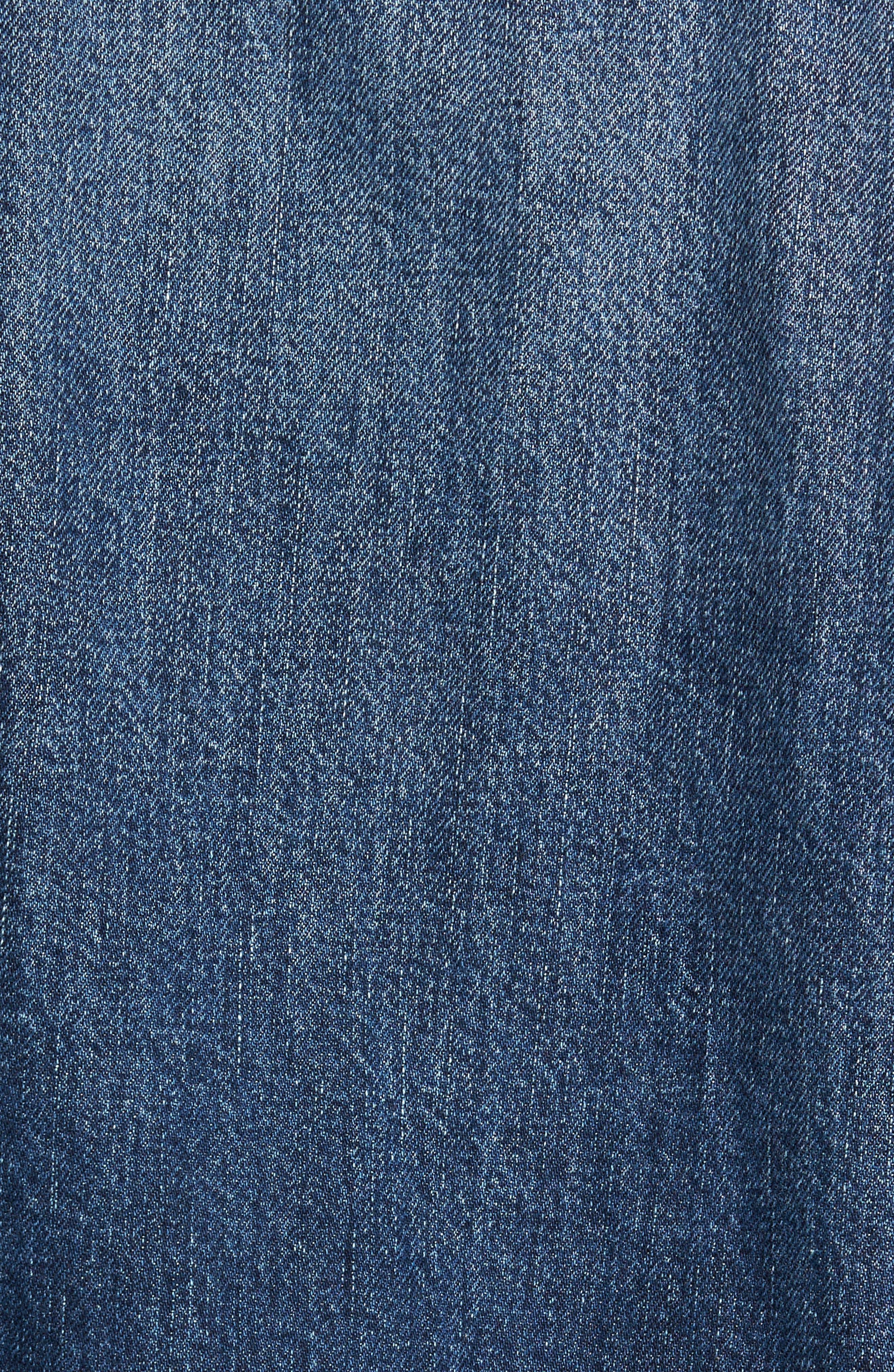 Inside Out Trucker Jacket,                             Alternate thumbnail 5, color,                             Vintage Blue