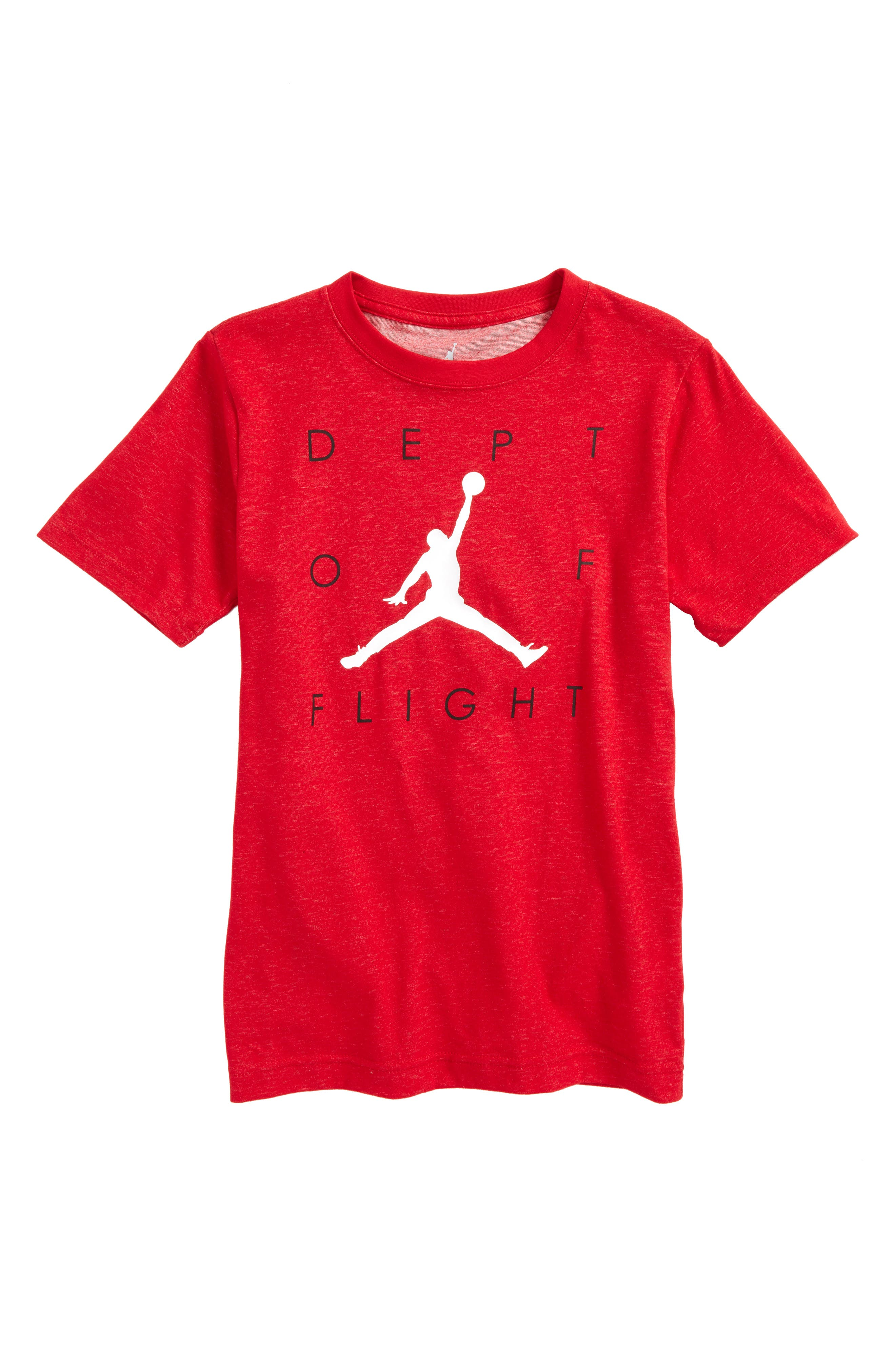 Jordan Dept of Flight Dry T-Shirt (Big Boys)