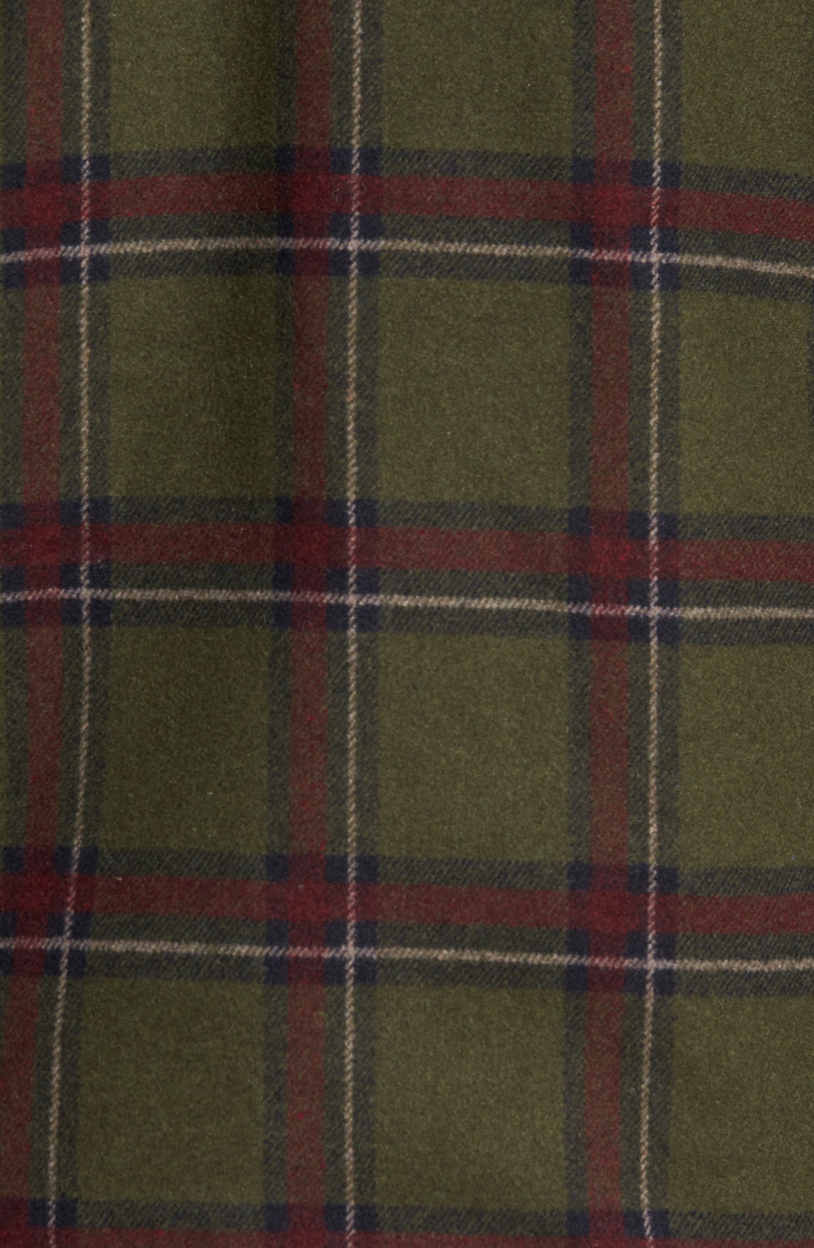Tough Guy Plush Lined Flannel Shirt Jacket,                             Alternate thumbnail 4, color,                             Olive