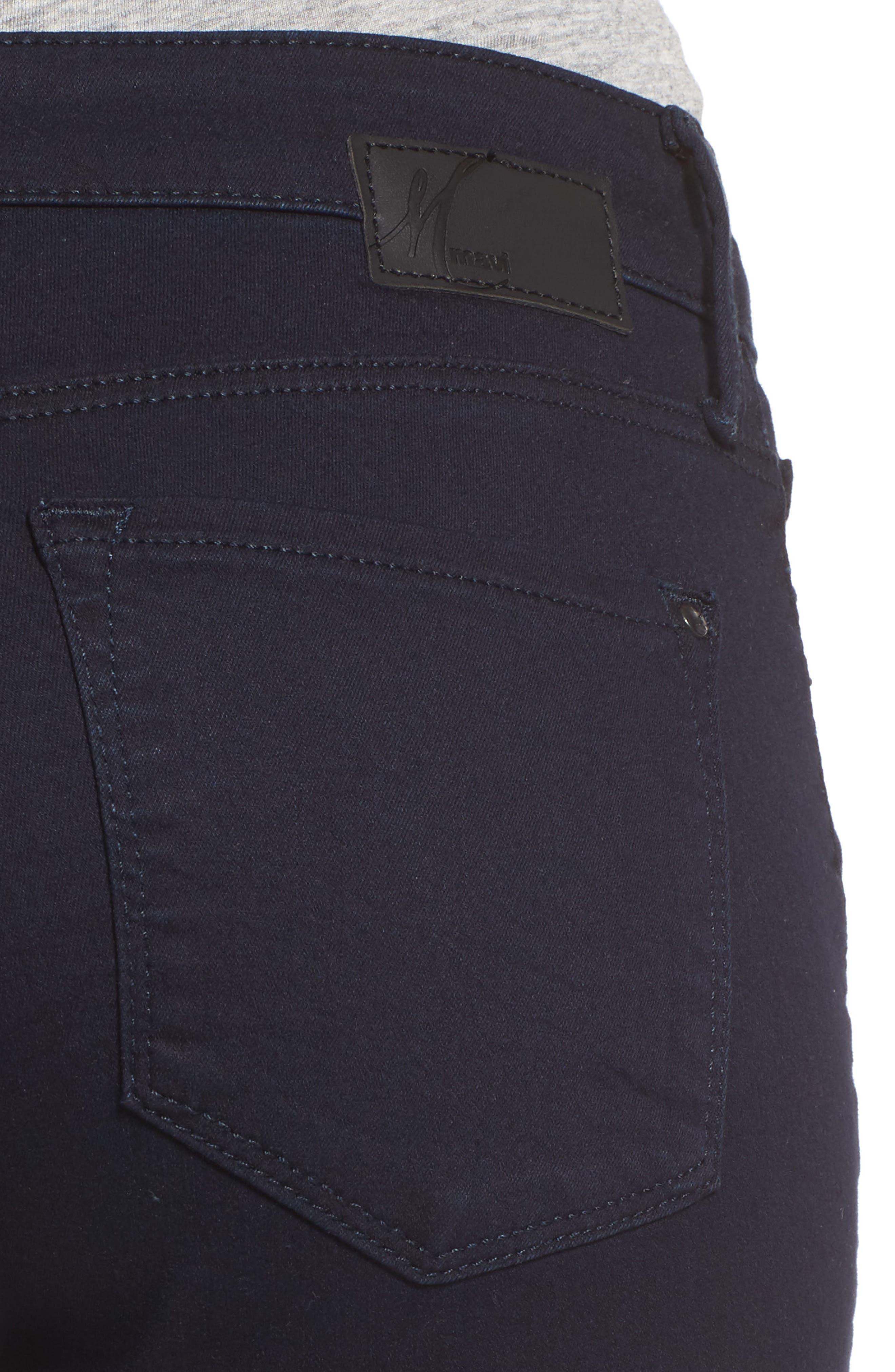 Alternate Image 4  - Mavi Jeans 'Alexa' Midrise Skinny Jeans (Dark Shanty)