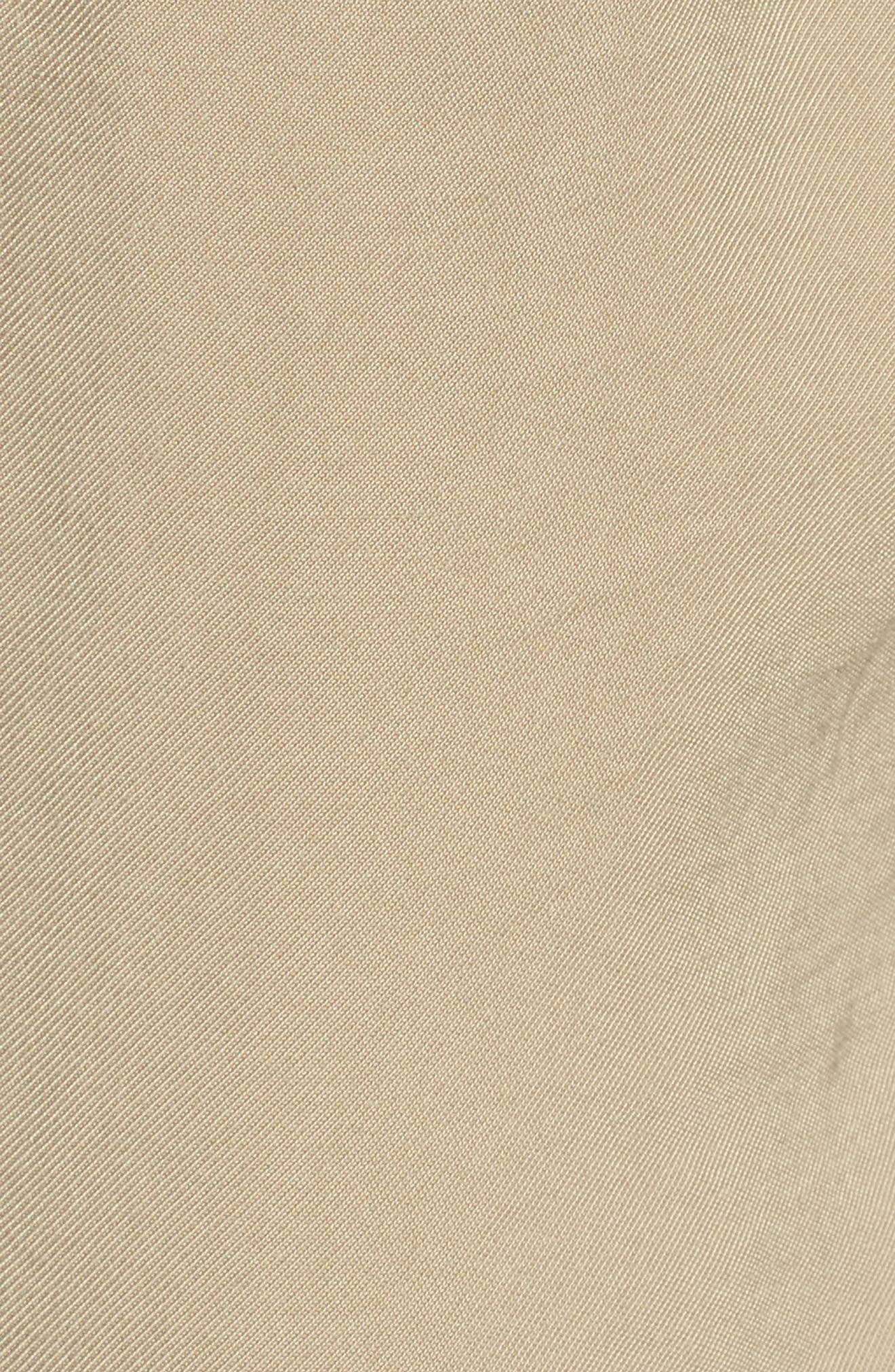 High Waist Tie Front Cropped Pants,                             Alternate thumbnail 5, color,                             Latte
