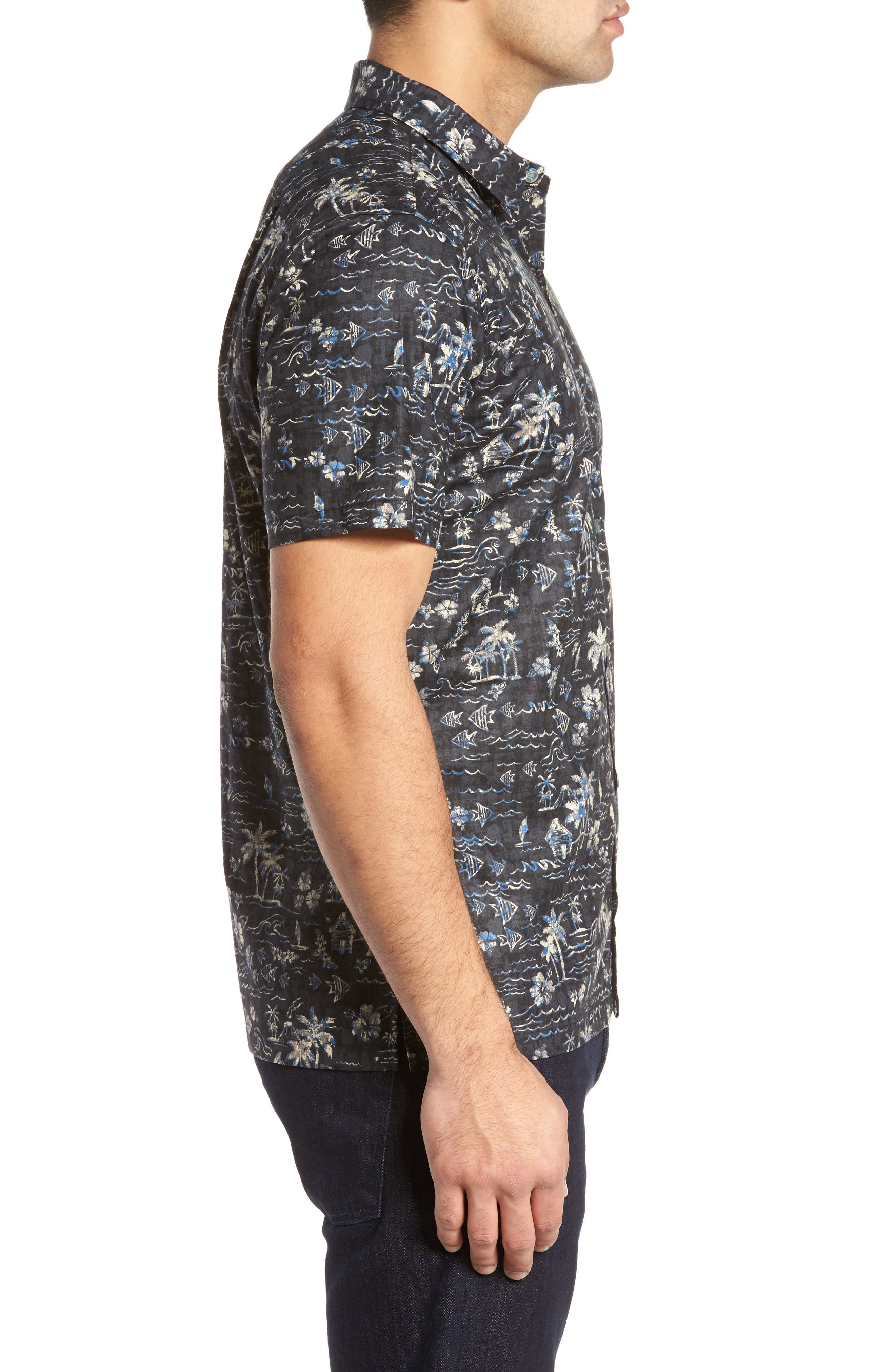 Alternate Image 3  - Tori Richard Smallville Regular Fit Print Sport Shirt