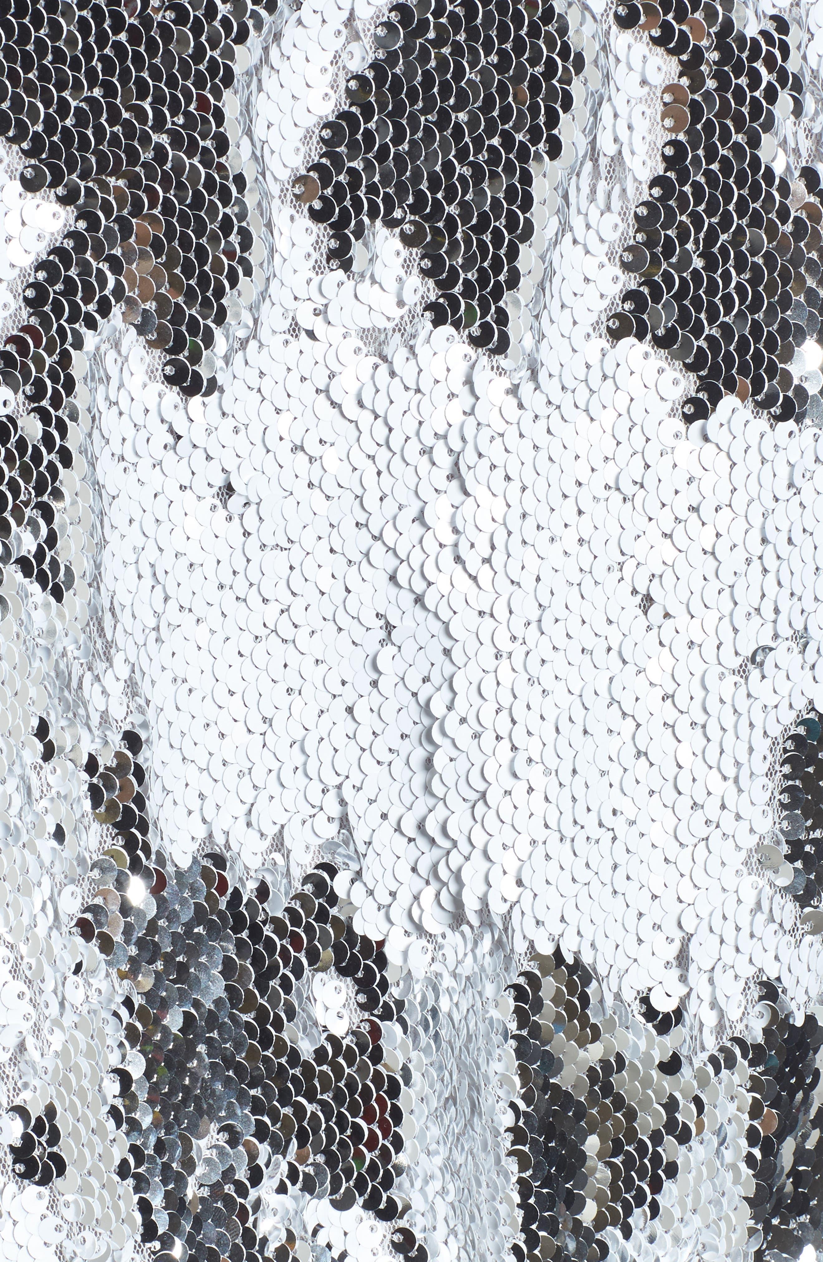 Sequin Bodysuit,                             Alternate thumbnail 5, color,                             Silver