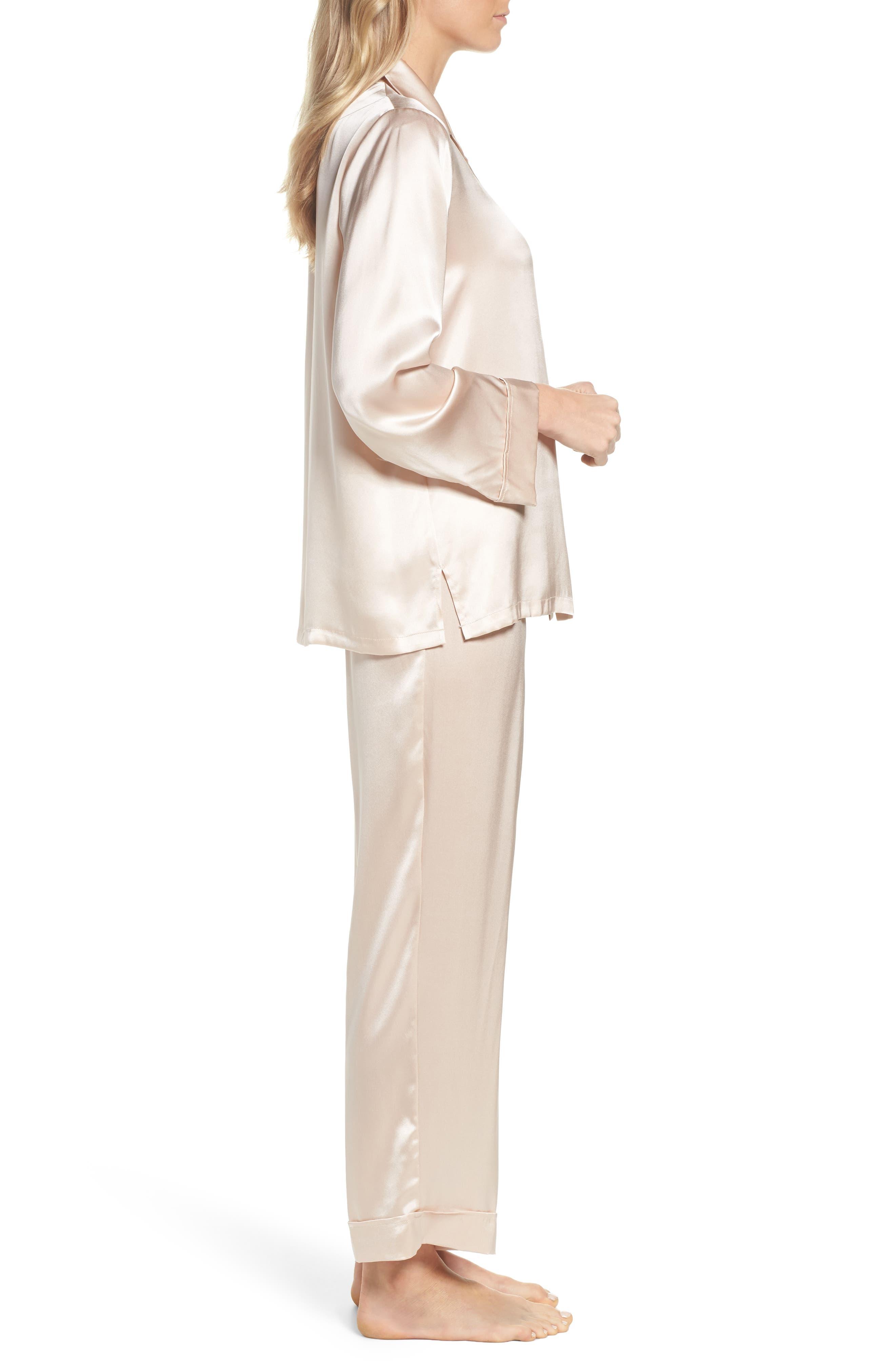 Alternate Image 3  - Papinelle Silk Pajamas