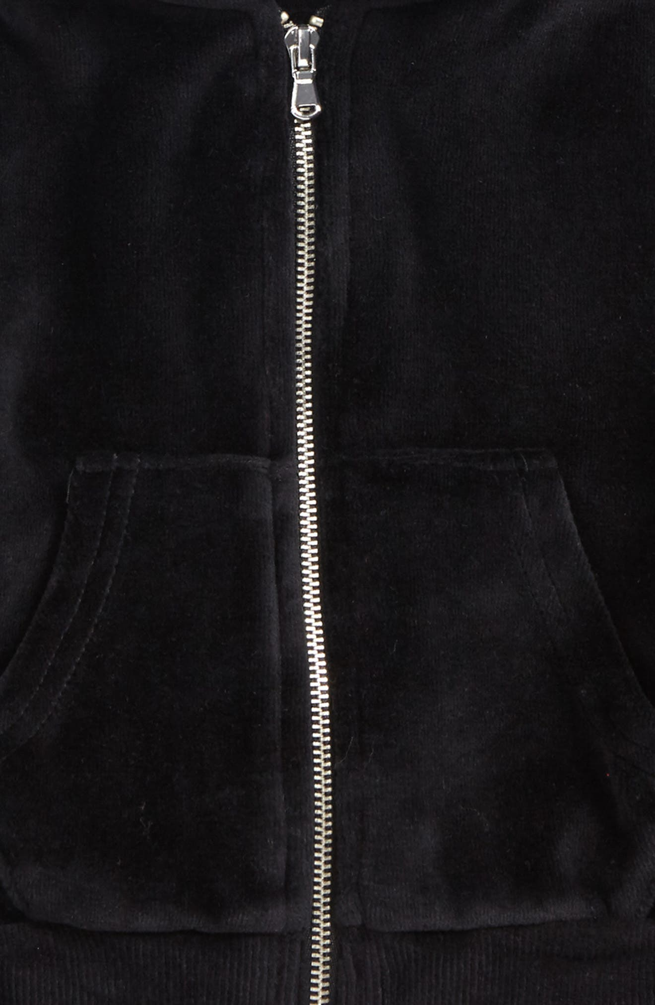 Velour Hoodie,                             Alternate thumbnail 2, color,                             Black