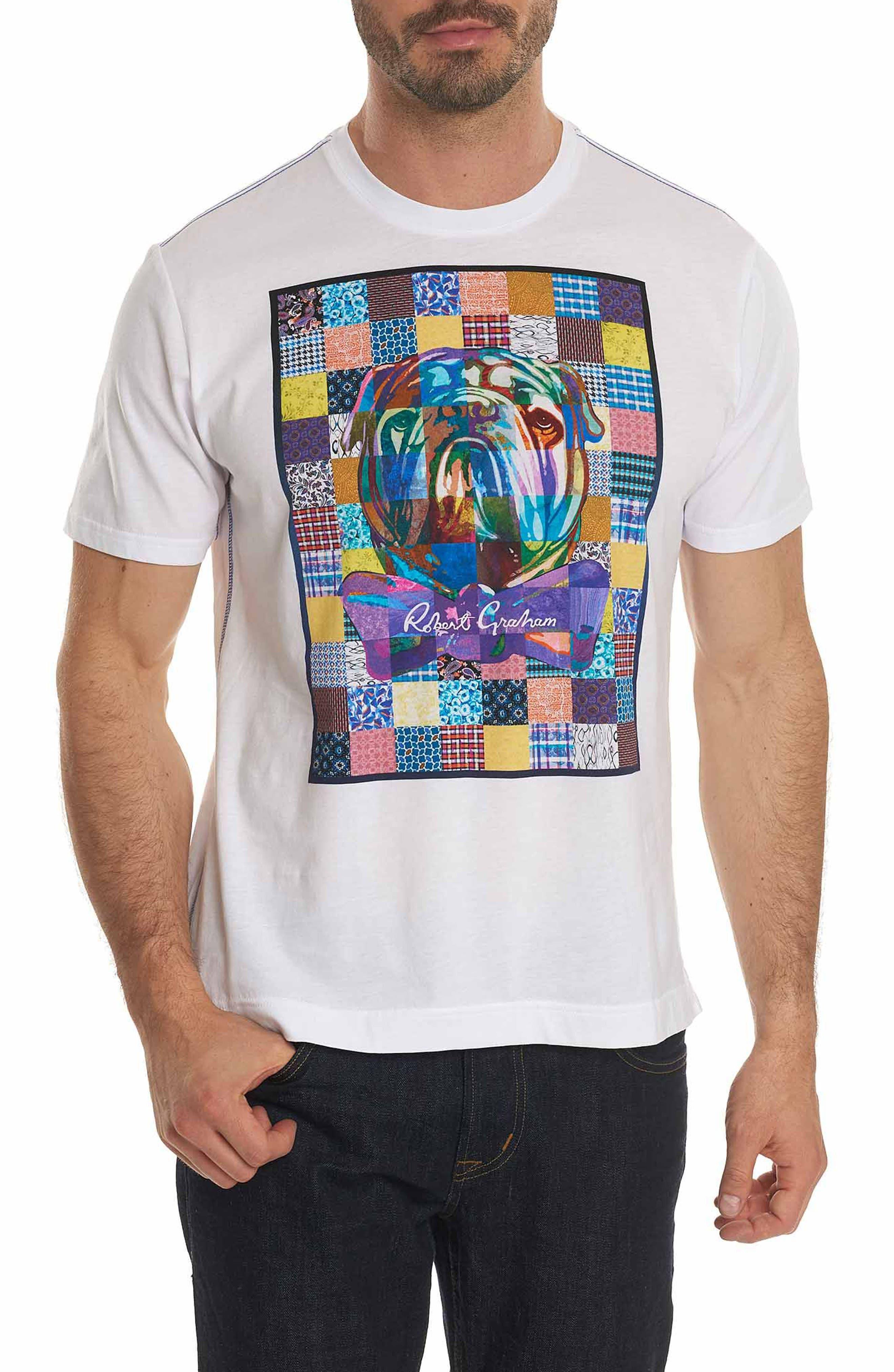 Main Image - Robert Graham Bow Tie Bulldog Graphic T-Shirt