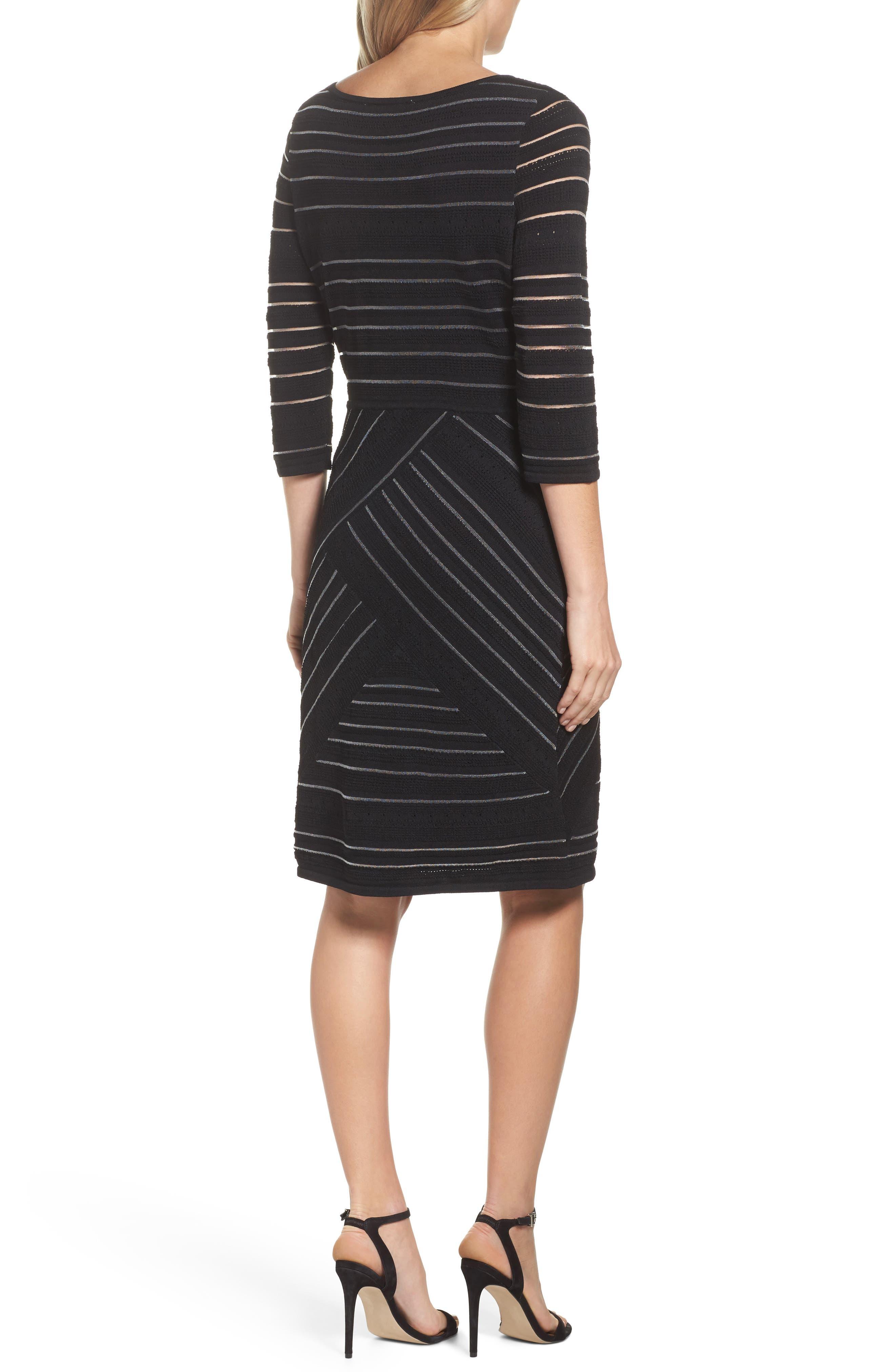 NIC+ ZOE Wrapped Up Sheath Dress,                             Alternate thumbnail 2, color,                             Black Onyx