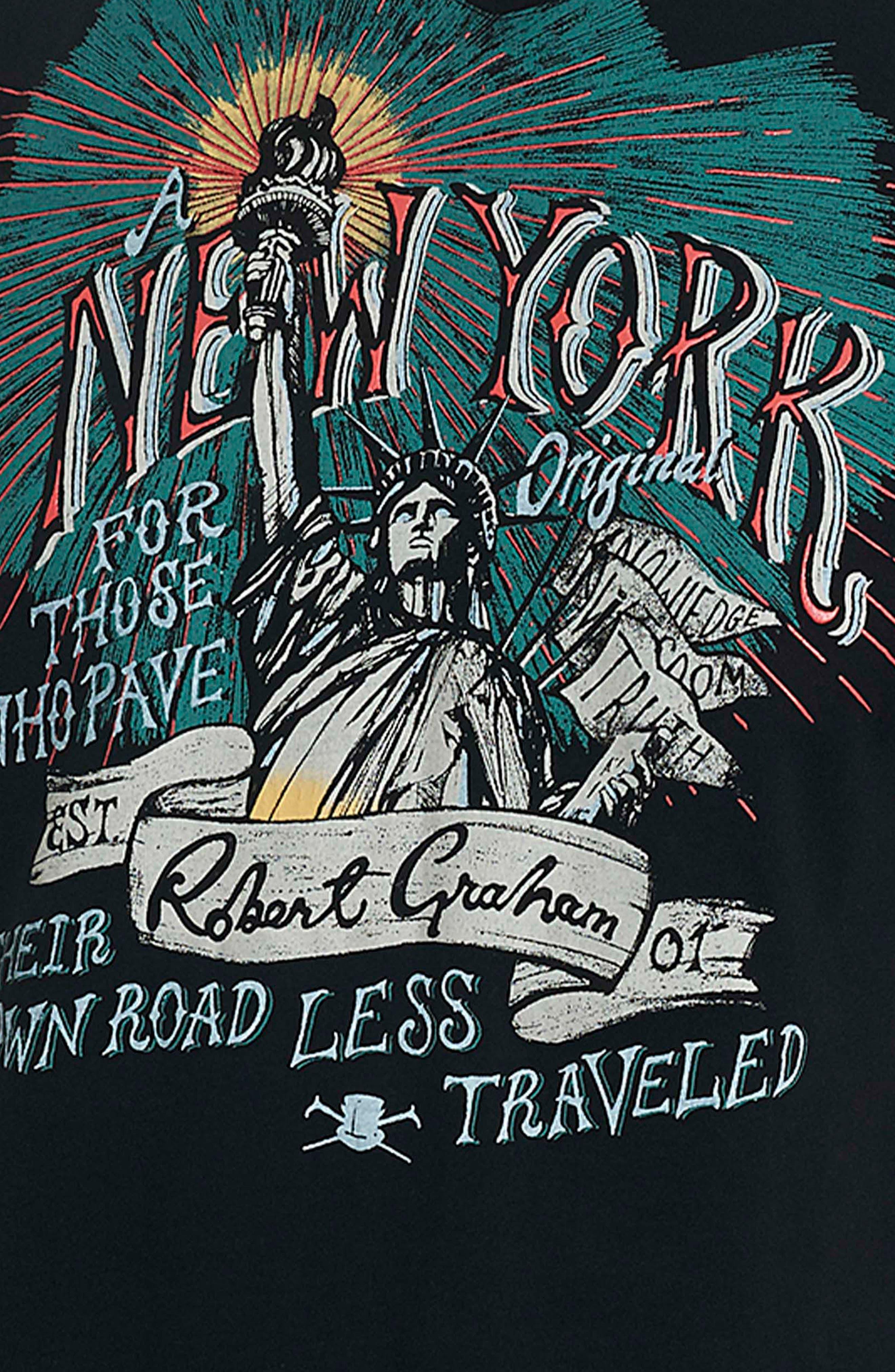 NY Original Graphic T-Shirt,                             Alternate thumbnail 3, color,                             Black