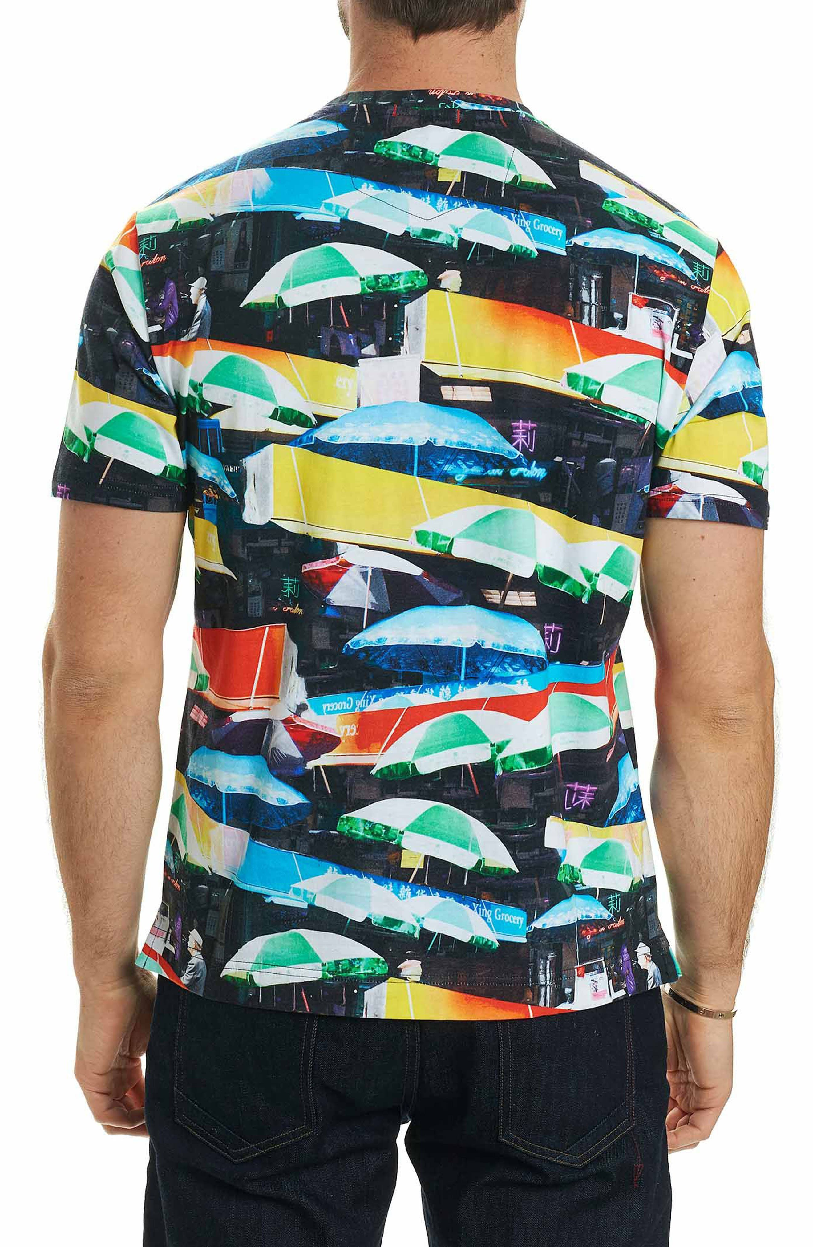 Umbrella Print T-Shirt,                             Alternate thumbnail 2, color,                             Red