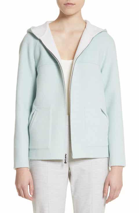 St. John Collection Reversible Wool & Angora Blend Sweatshirt