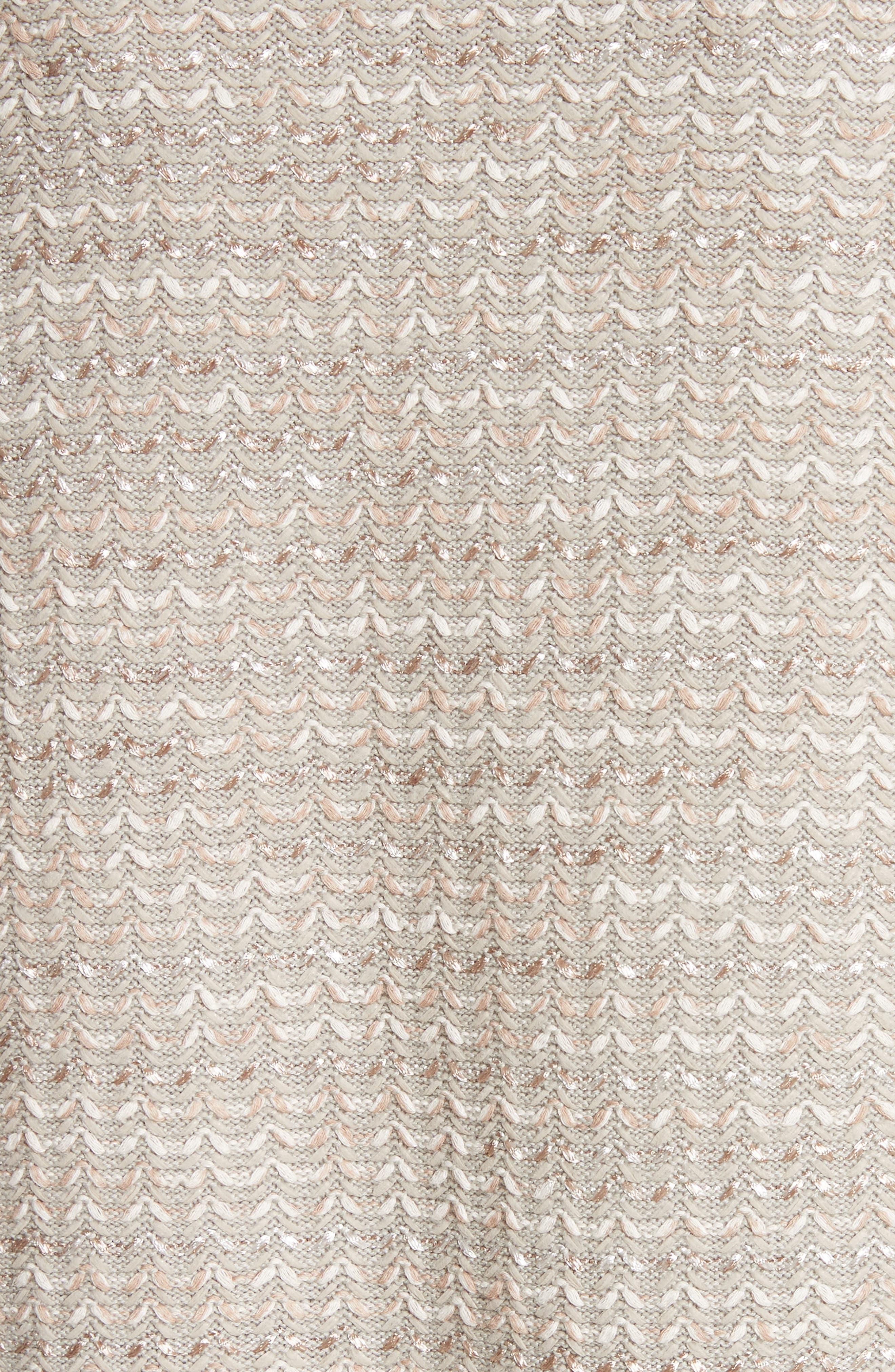 Alternate Image 5  - St. John Collection Chevron Knit Shantung Jacket