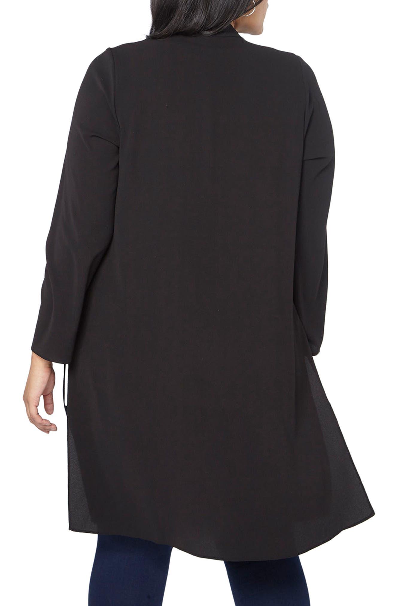 Alternate Image 2  - Evans Long Jacket (Plus Size)