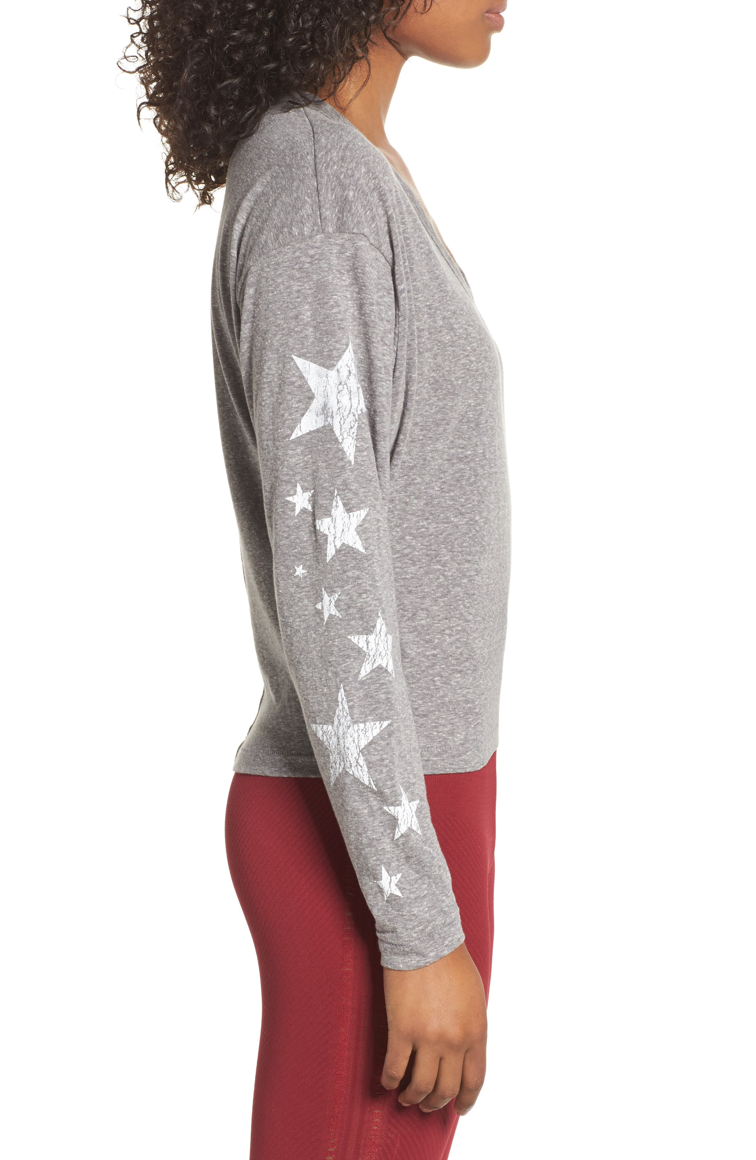 Free People Melrose Star Graphic Top,                             Alternate thumbnail 4, color,                             Grey