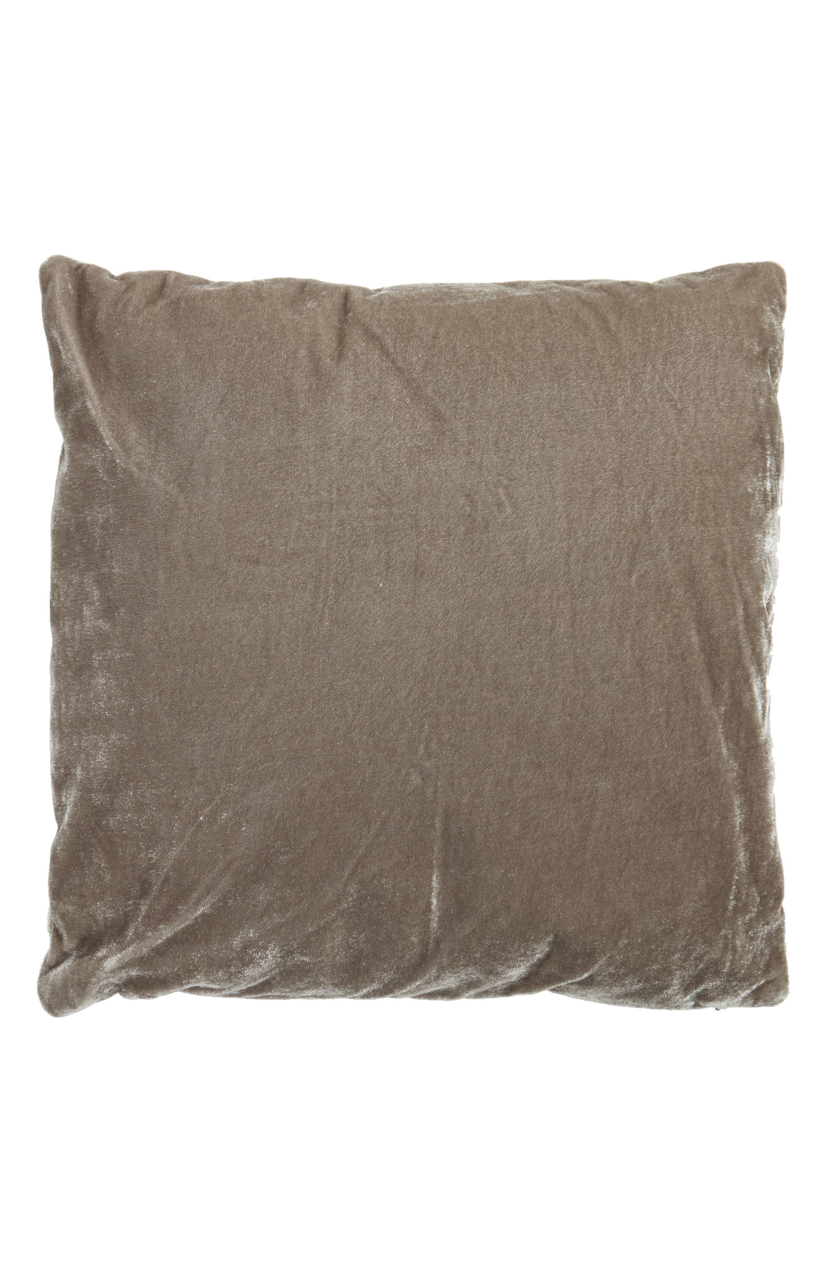 Sweet Dreams Velvet Pillow,                             Alternate thumbnail 2, color,                             Grey