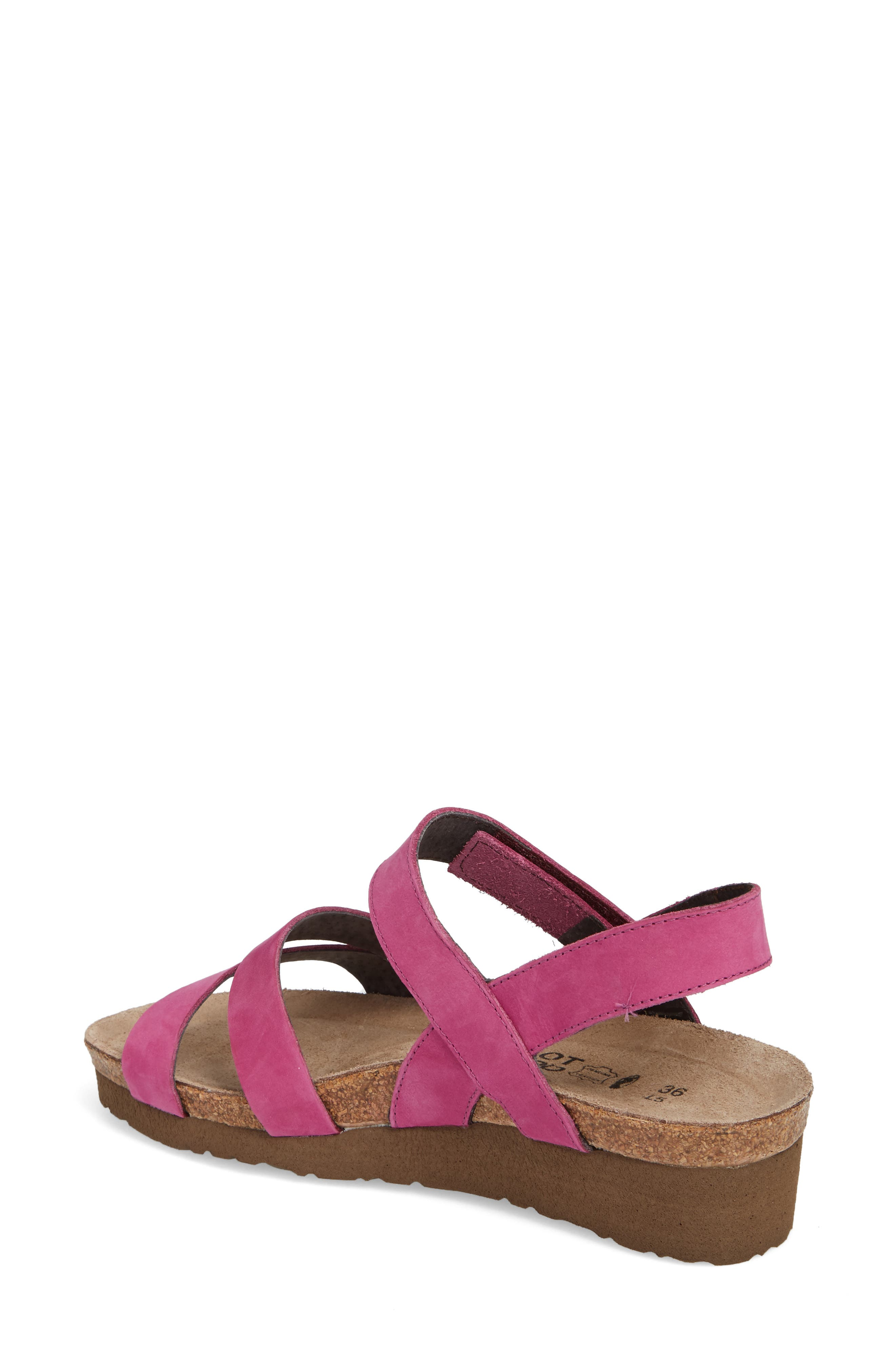 'Kayla' Sandal,                             Alternate thumbnail 2, color,                             Pink Plum Nubuck