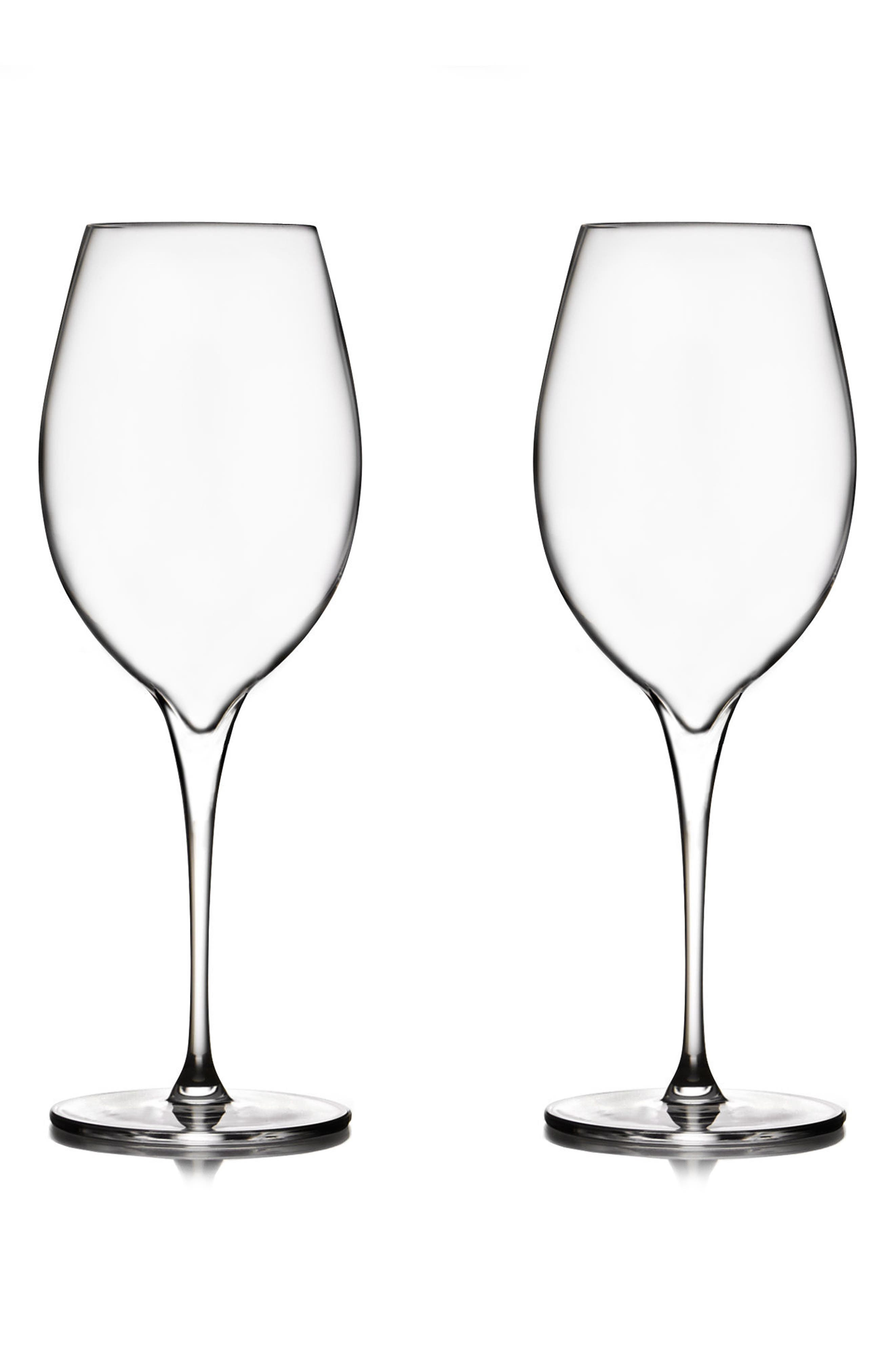 Vie Set of 2 Pinot Grigio Glasses,                             Main thumbnail 1, color,                             Clear