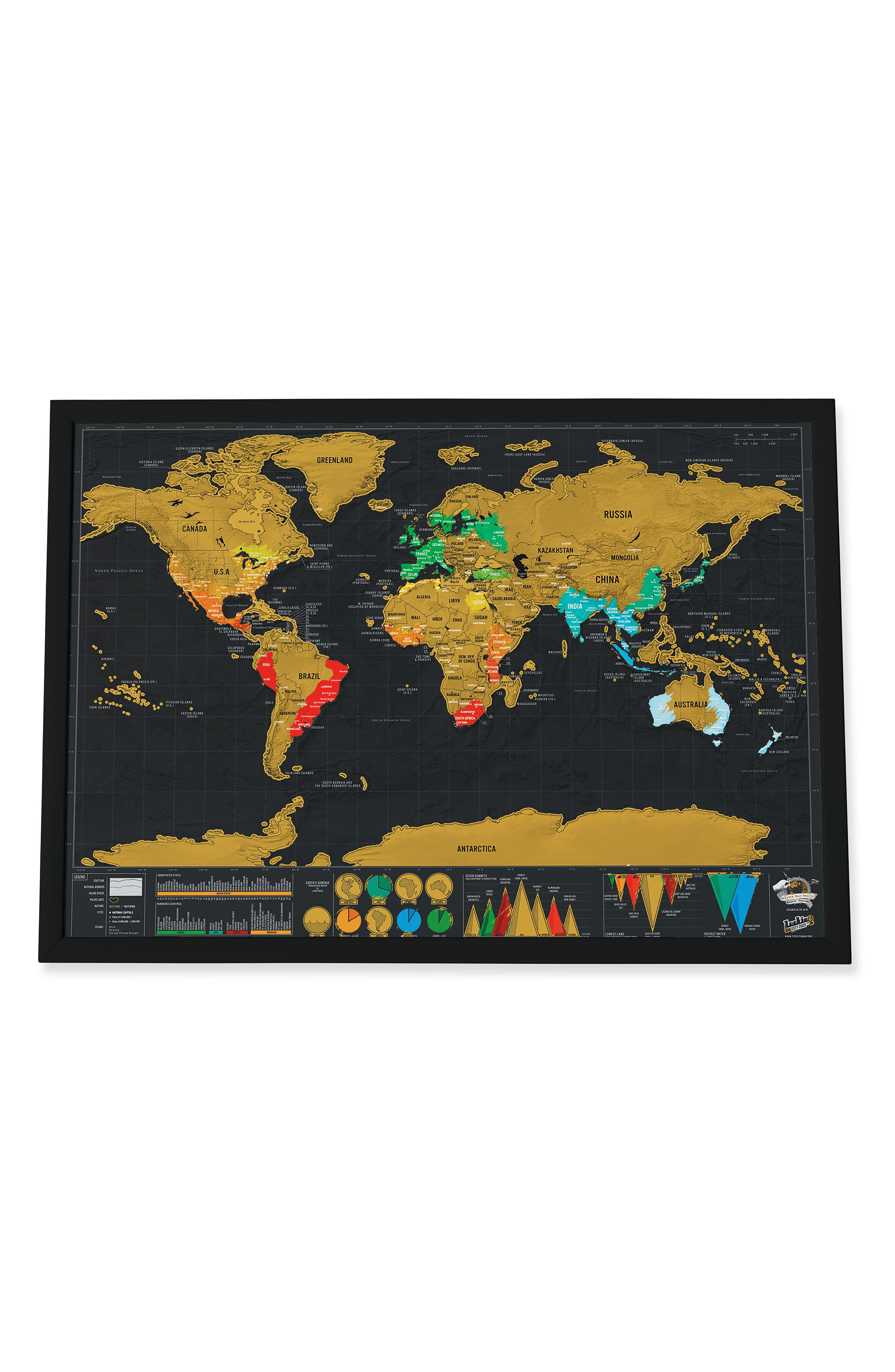 MoMA Design Store Small Scratch World Map