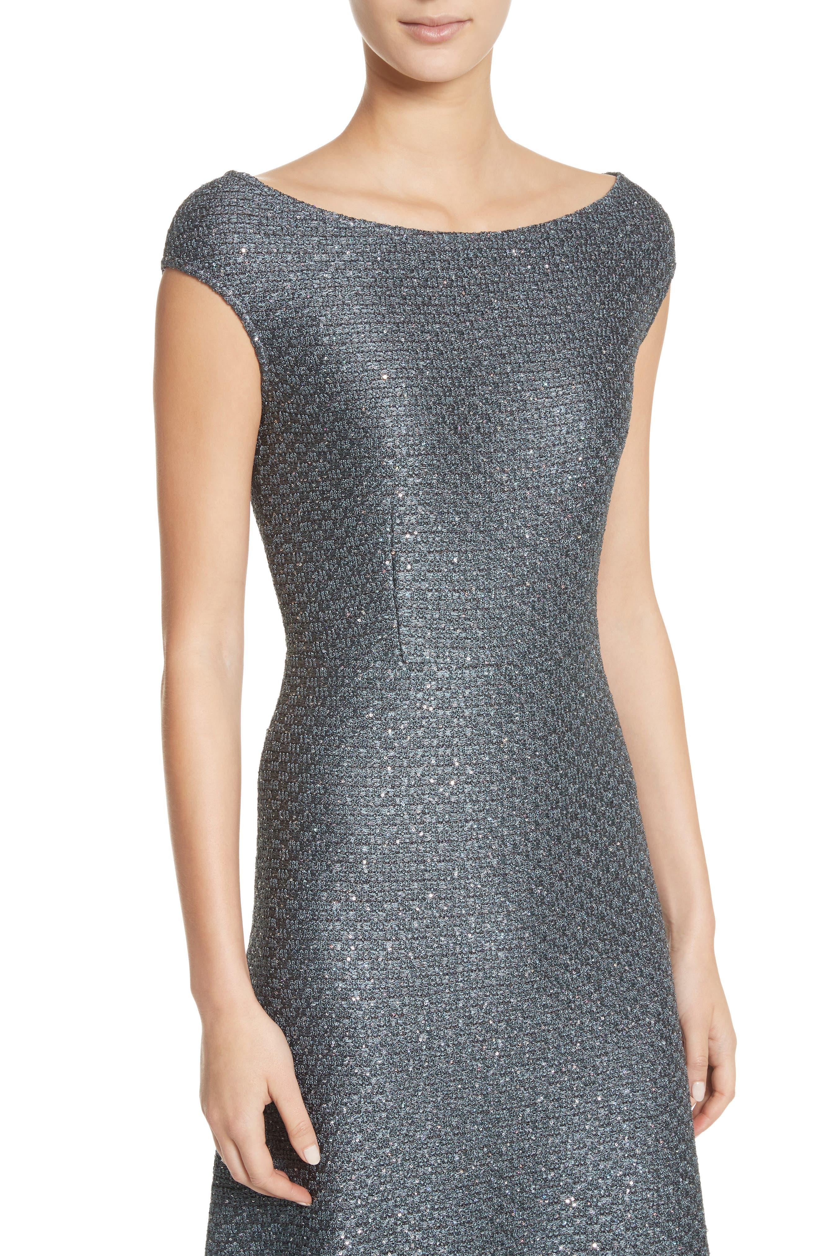 Alternate Image 4  - St. John Collection Sequin Knit Midi Dress