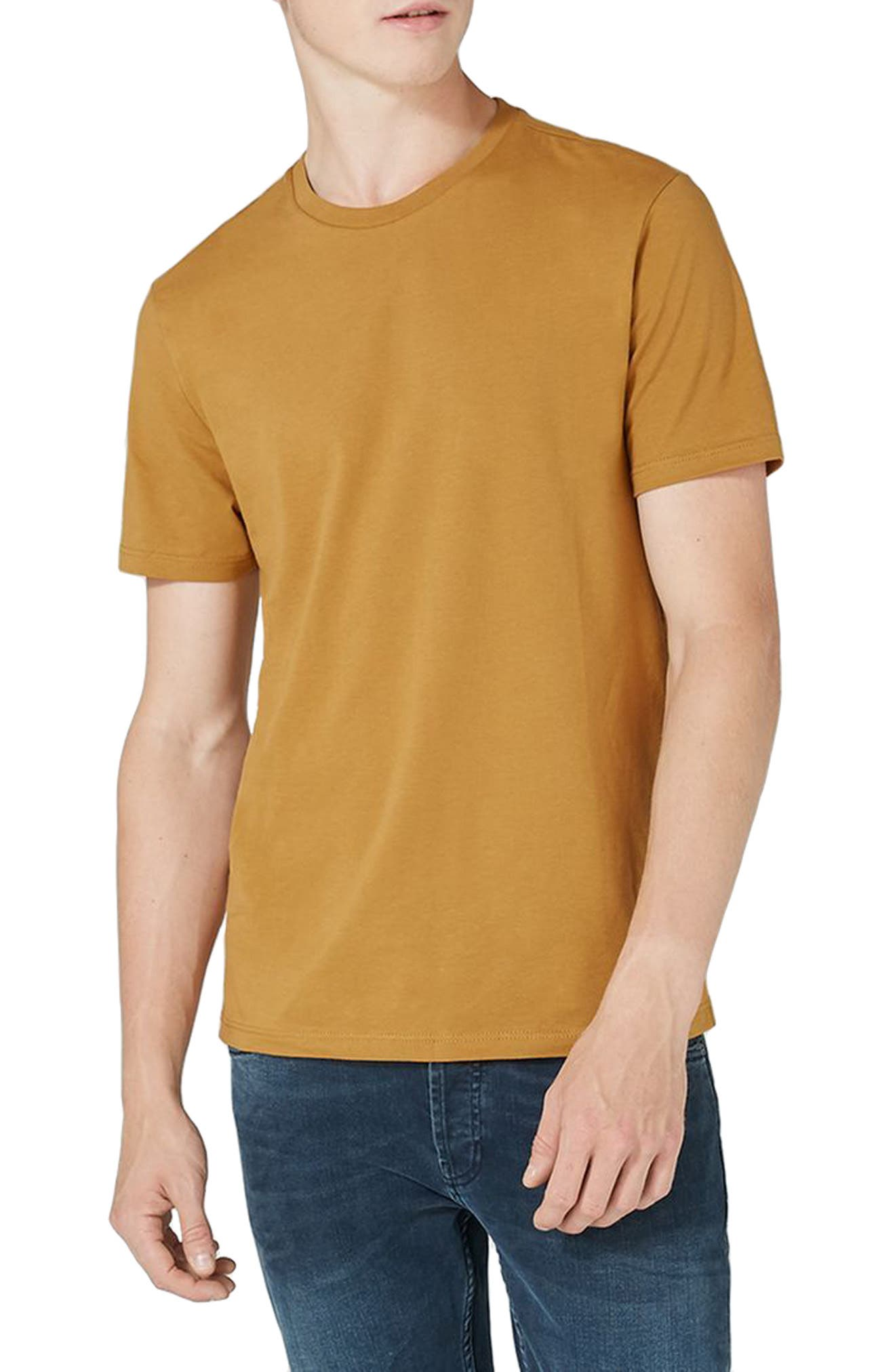 Slim Fit Crewneck T-Shirt,                         Main,                         color, Mustard
