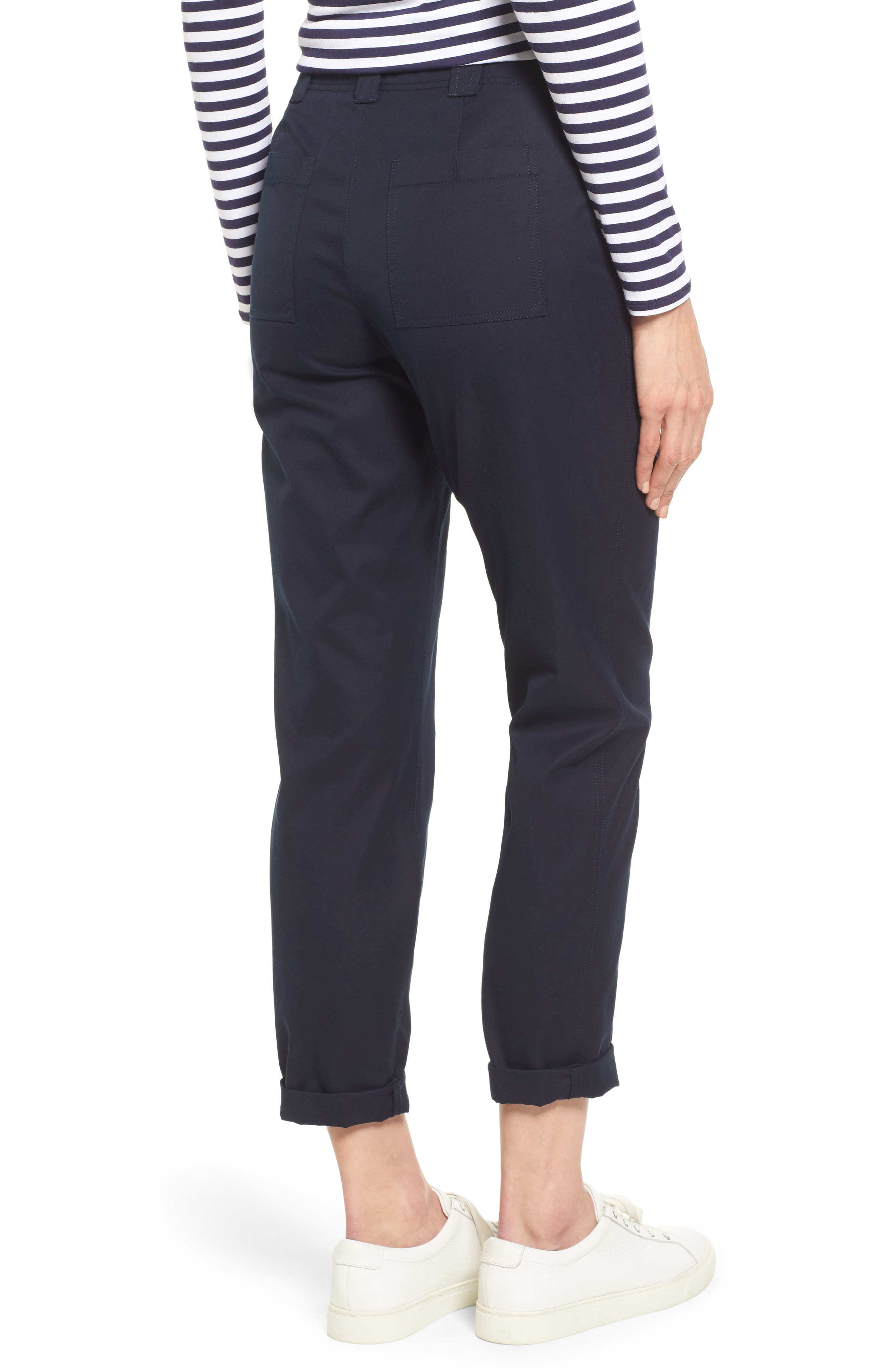 Patch Pocket Ankle Pants,                             Alternate thumbnail 2, color,                             Navy Night