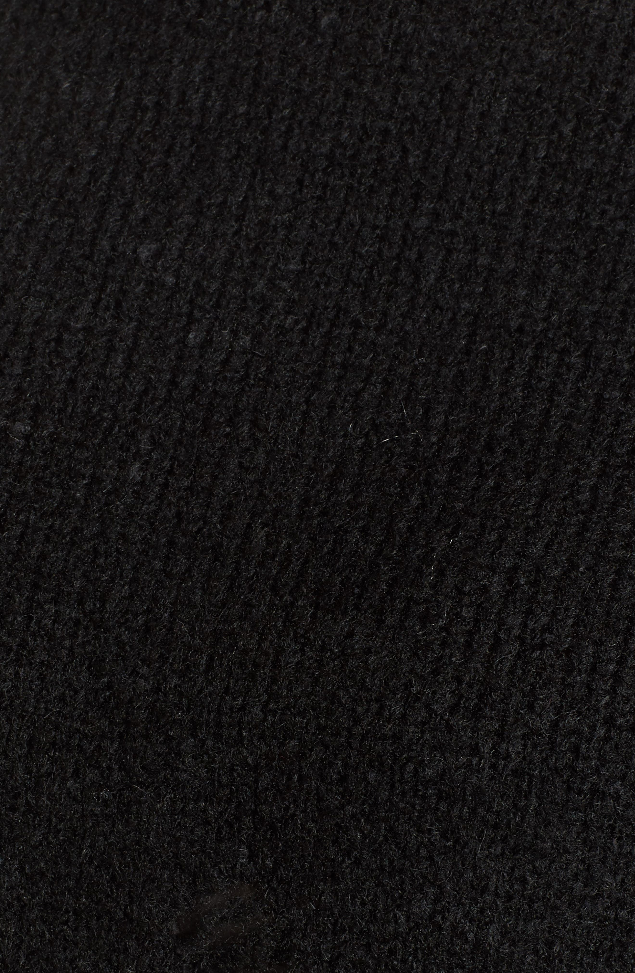 Destroyed High/Low Sweater,                             Alternate thumbnail 5, color,                             Black