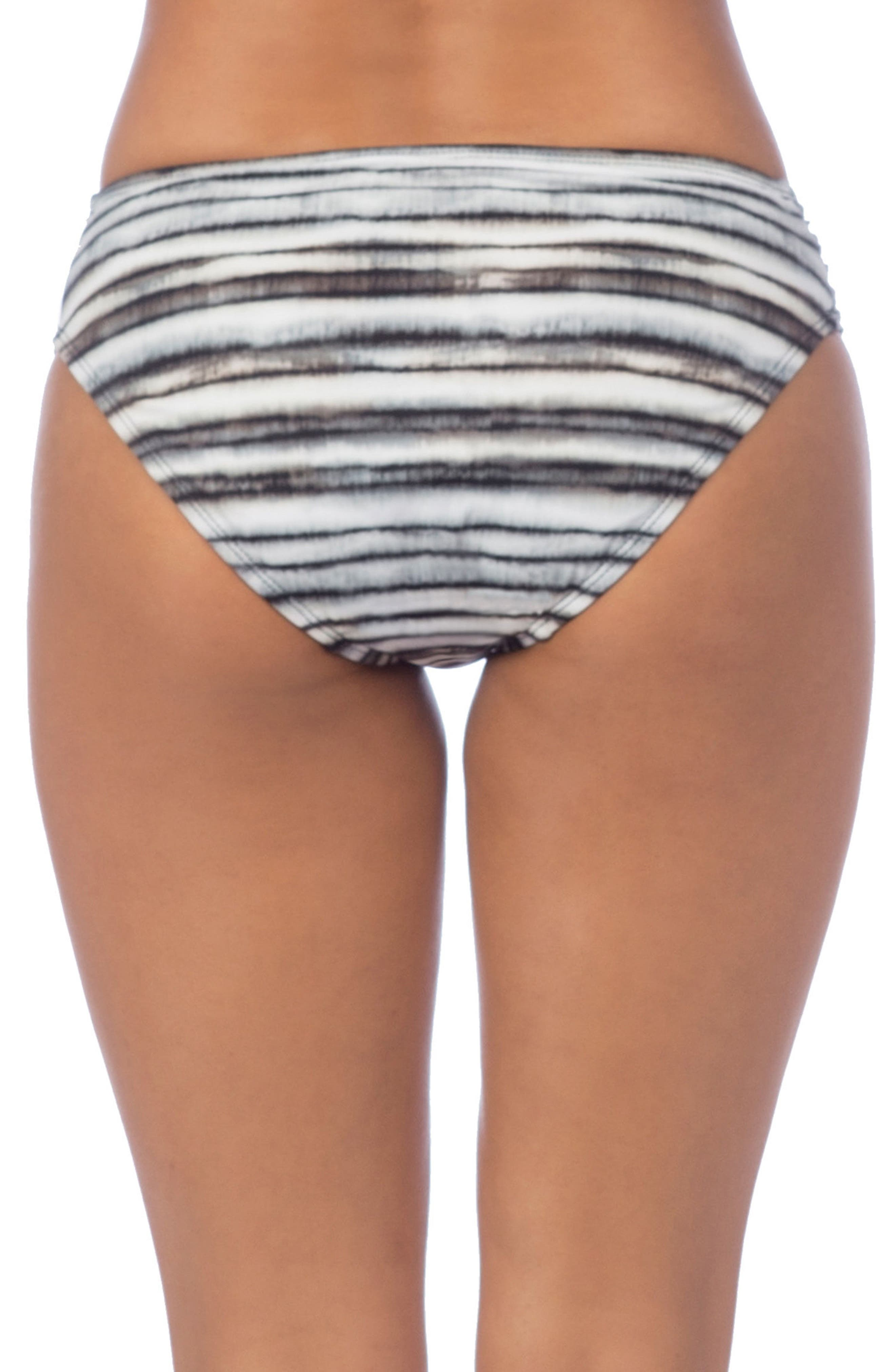 Shirred Hipster Bikini Bottoms,                             Alternate thumbnail 2, color,                             Pebble