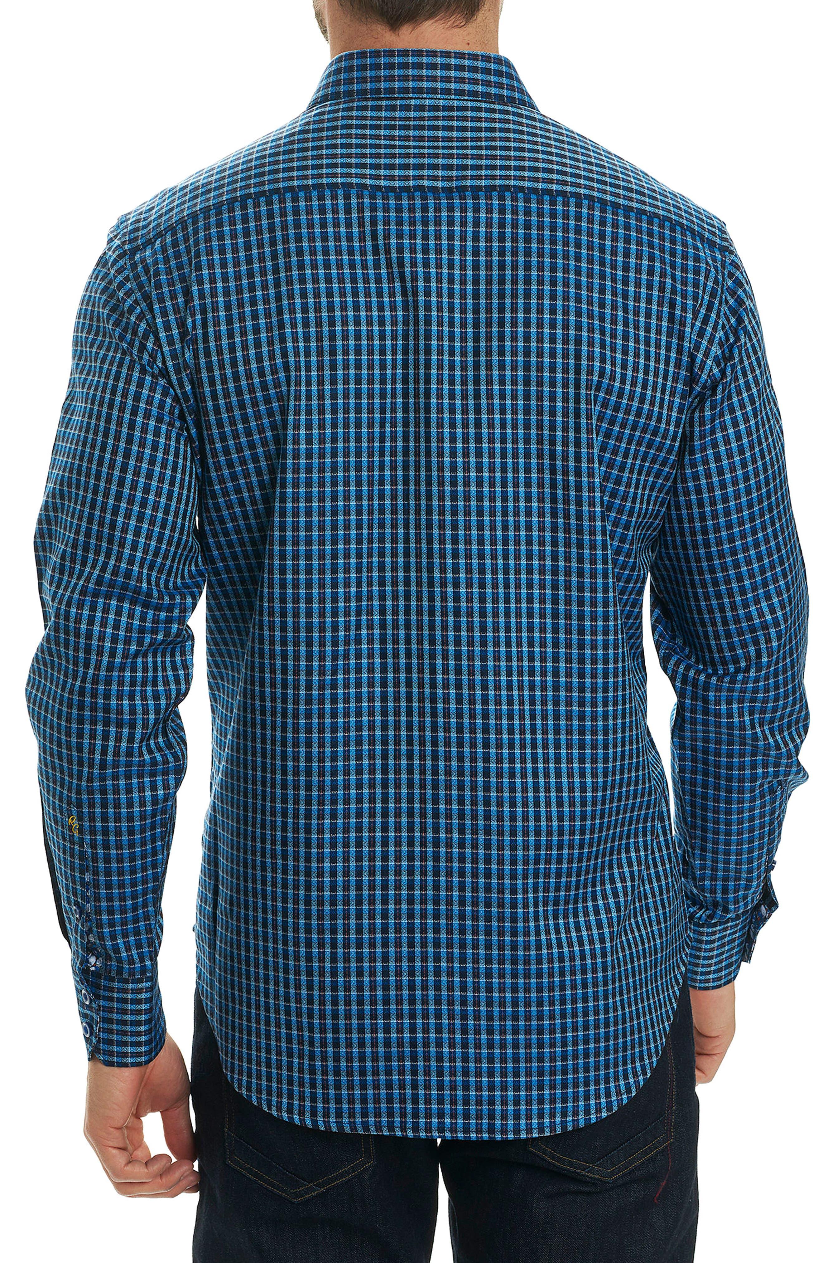 Matira Classic Fit Check Sport Shirt,                             Alternate thumbnail 2, color,                             Blue