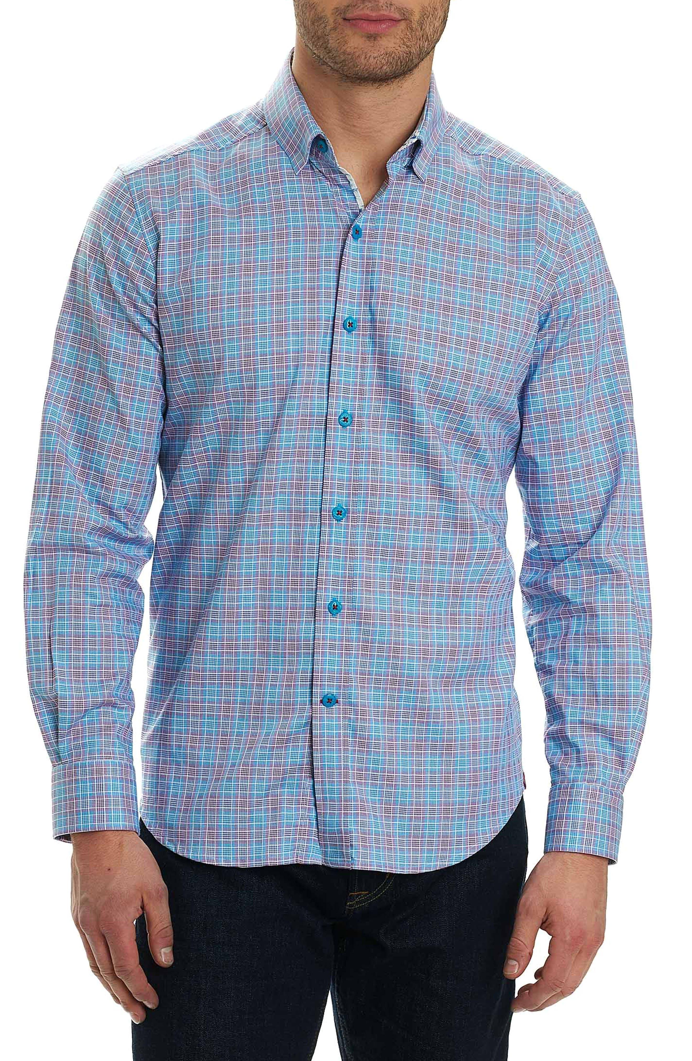 Ryan Regular Fit Sport Shirt,                         Main,                         color, Purple