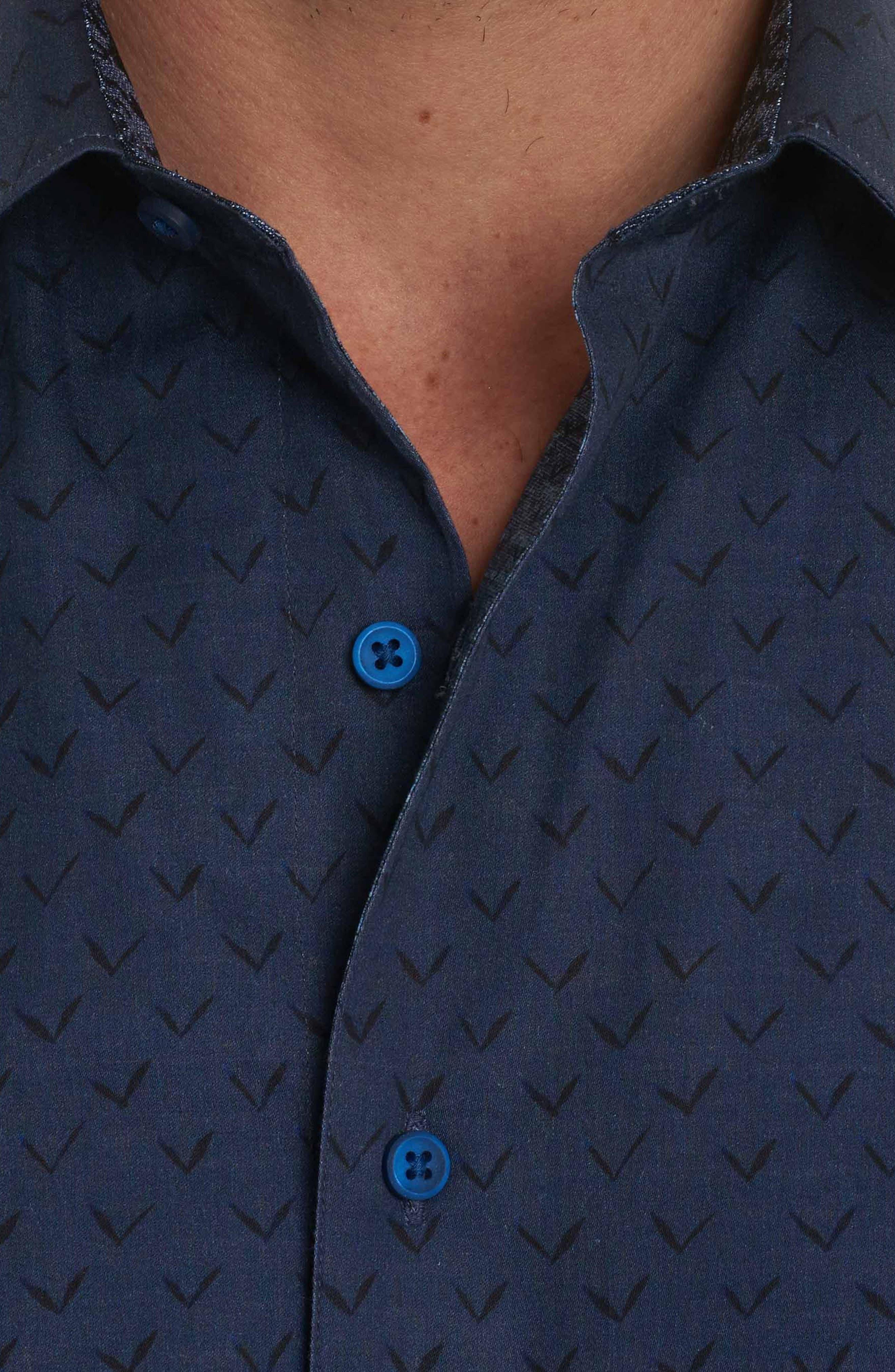 Lionel Classic Fit Sport Shirt,                             Alternate thumbnail 4, color,                             Indigo