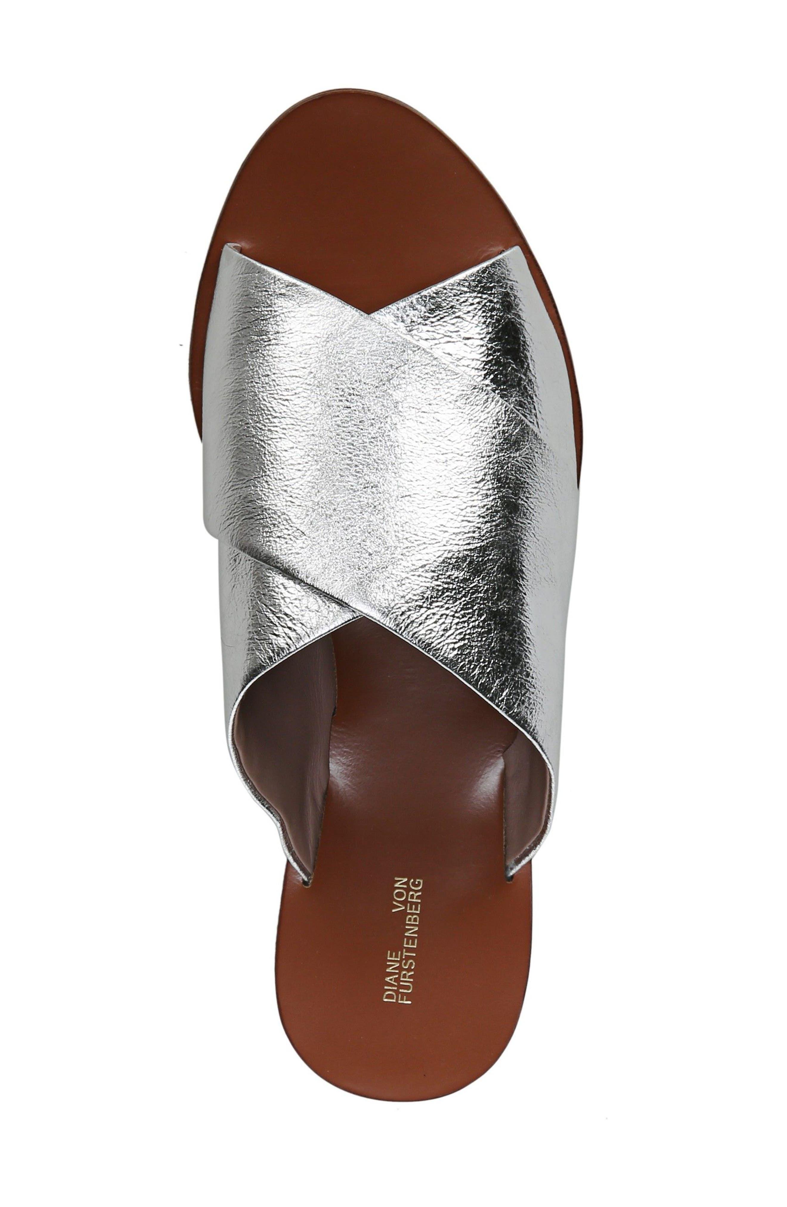 Bailie Sandal,                             Alternate thumbnail 6, color,                             Silver Leather