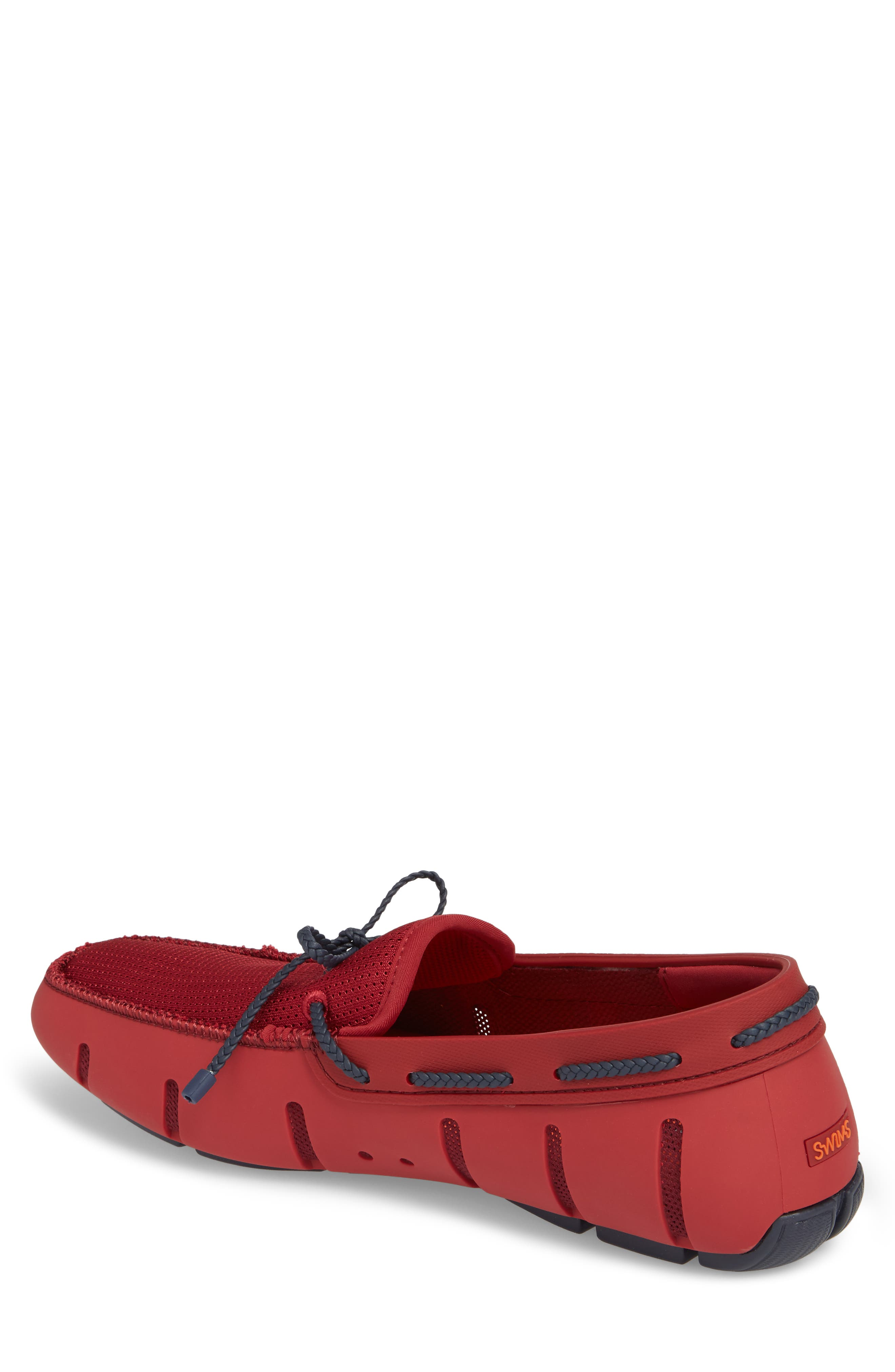 Loafer,                             Alternate thumbnail 2, color,                             Deep Red / Navy