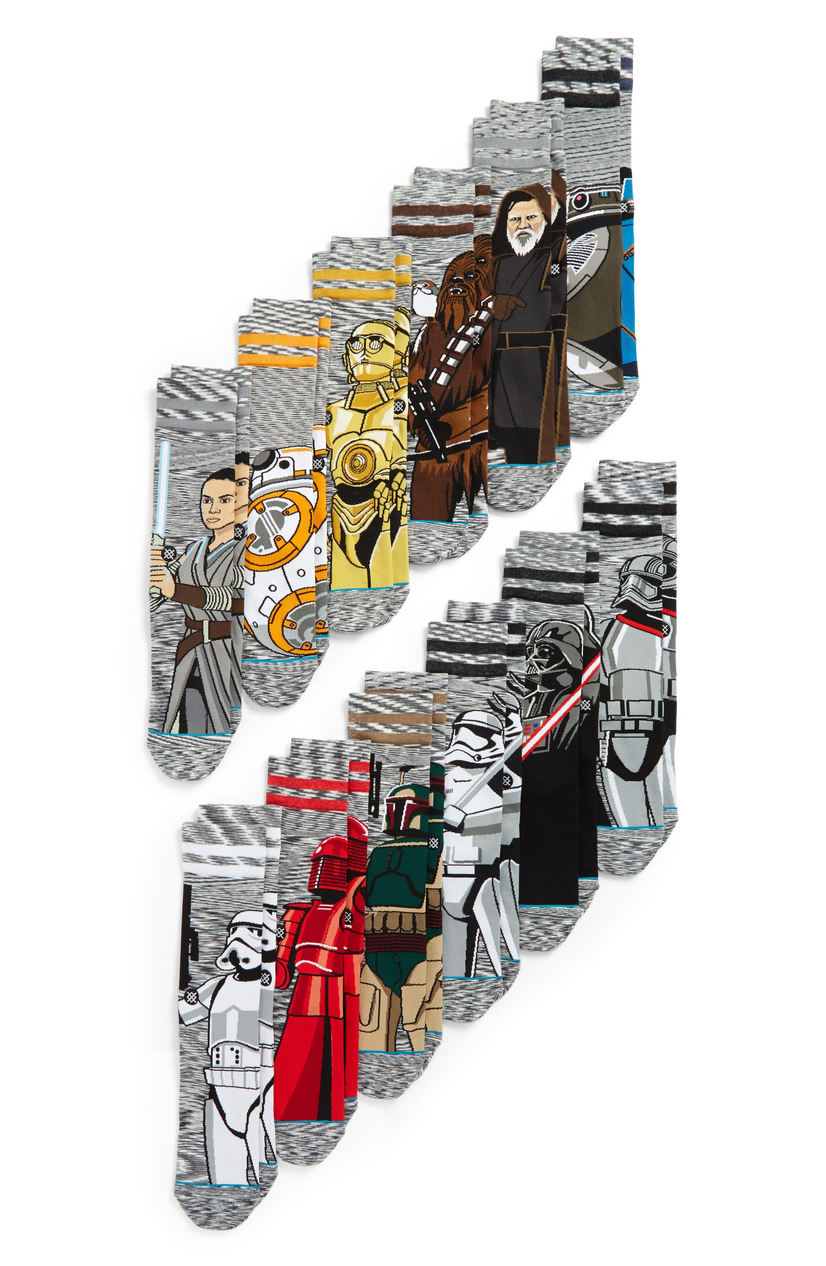 """""""Star Wars<sup>™</sup>"""" 13-Pack Socks Box Set,                         Main,                         color, Grey Multi"""