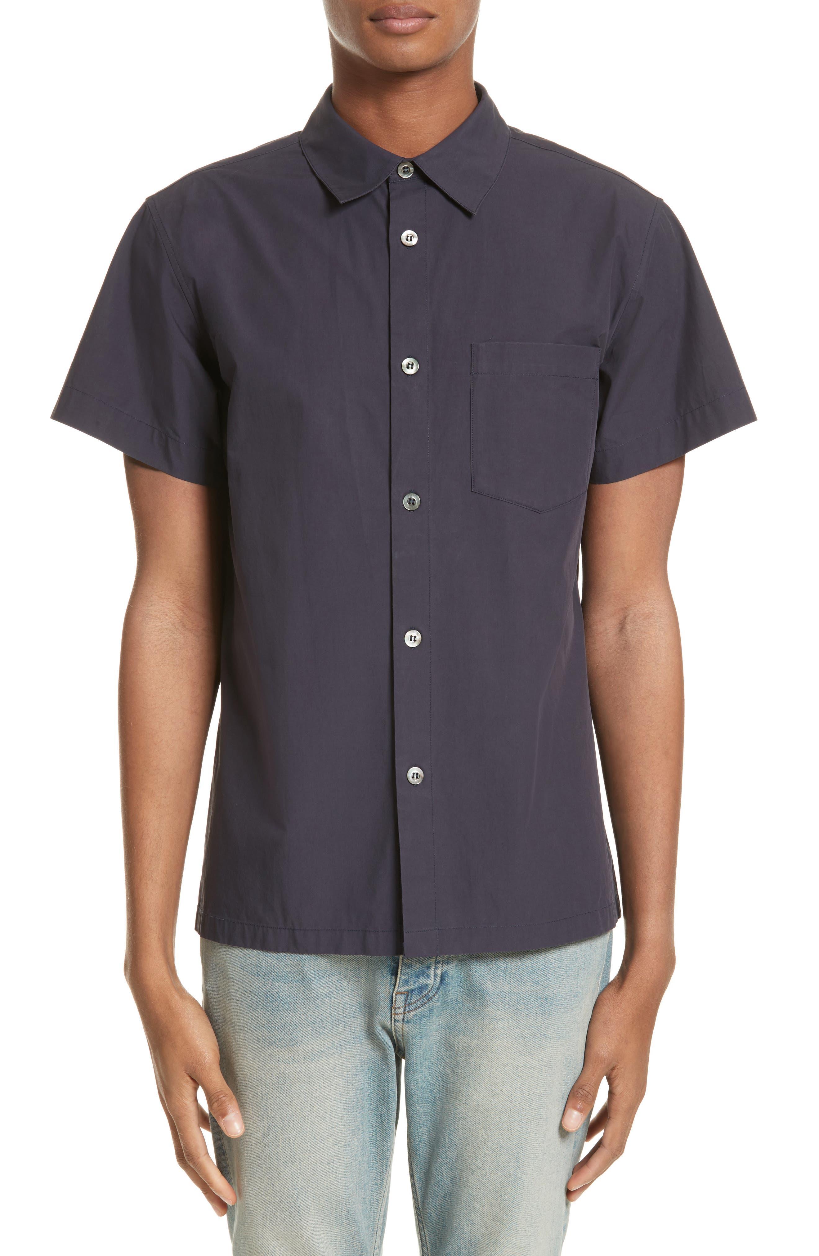 Cippi Poplin Woven Shirt,                         Main,                         color, Dark Navy Iak