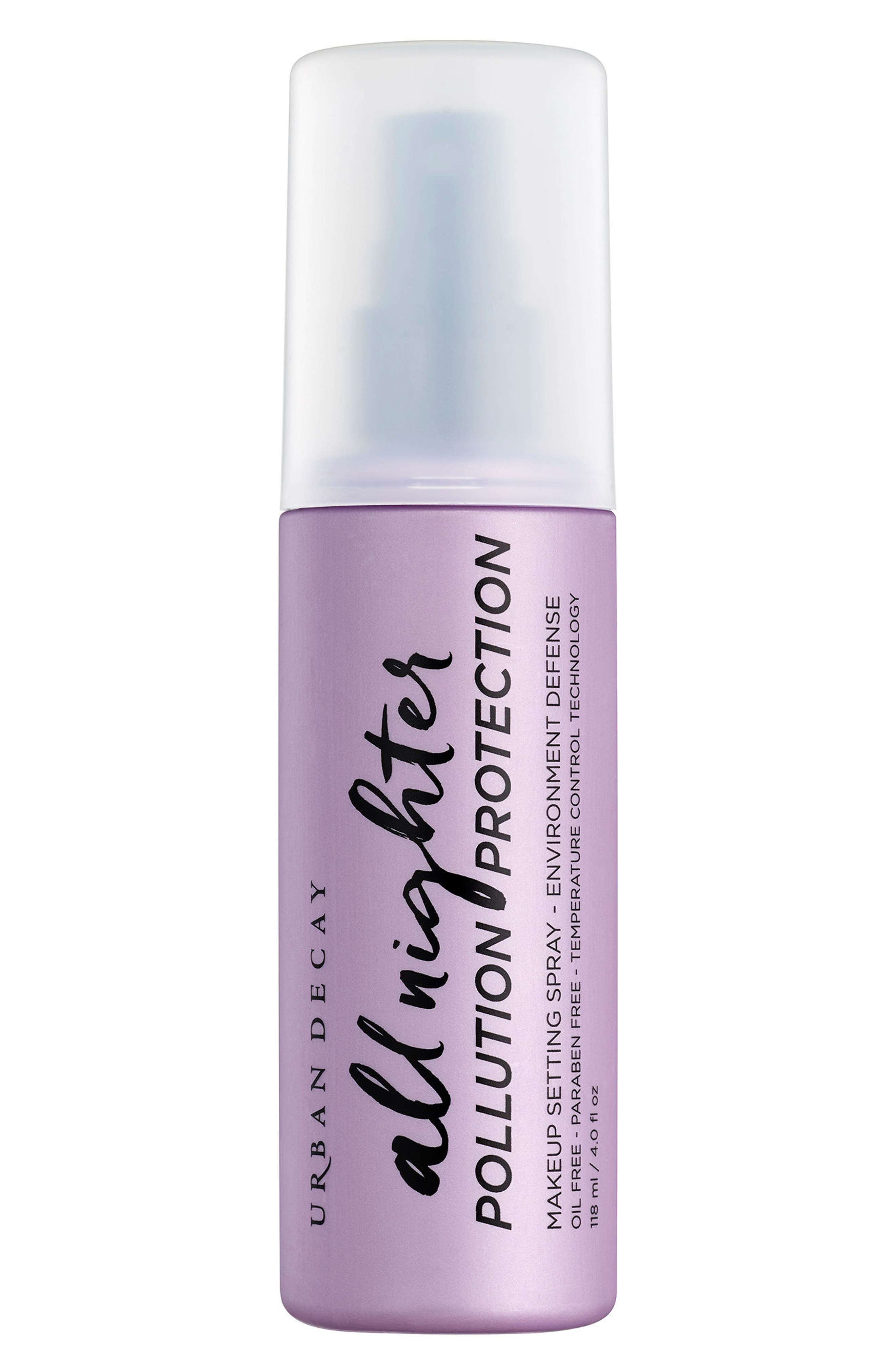 All Nighter Pollution Protection Environmental Defense Makeup Setting Spray,                         Main,                         color, No Color