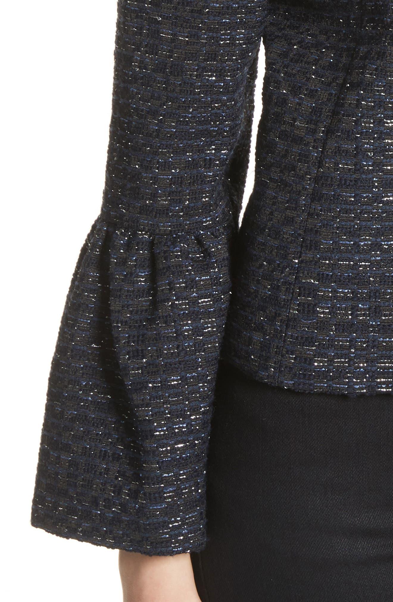 Alternate Image 4  - Helene Berman Zoe Bell Cuff Tweed Jacket