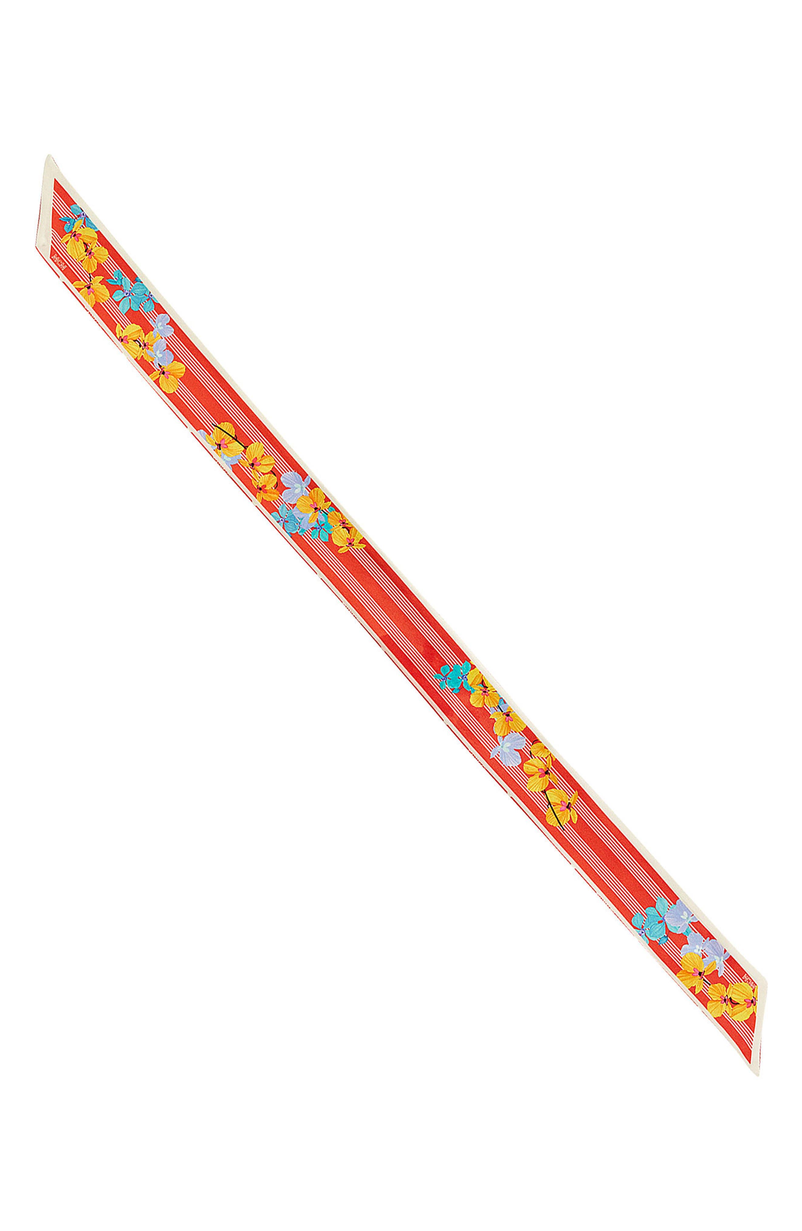 Visetos Floral Twilly Silk Scarf,                         Main,                         color, Marigold Orange