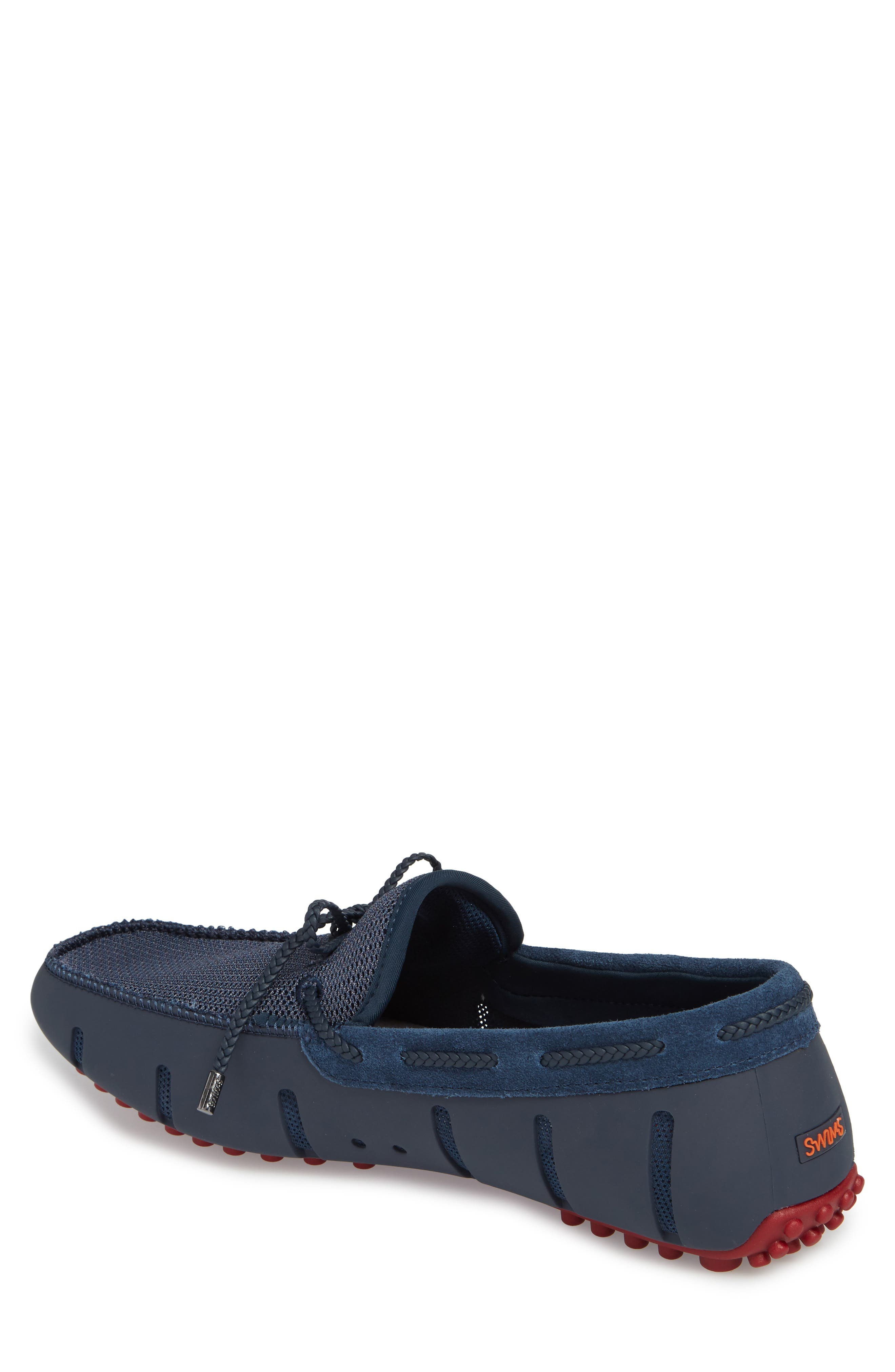 Driving Shoe,                             Alternate thumbnail 2, color,                             Navy / Deep Red