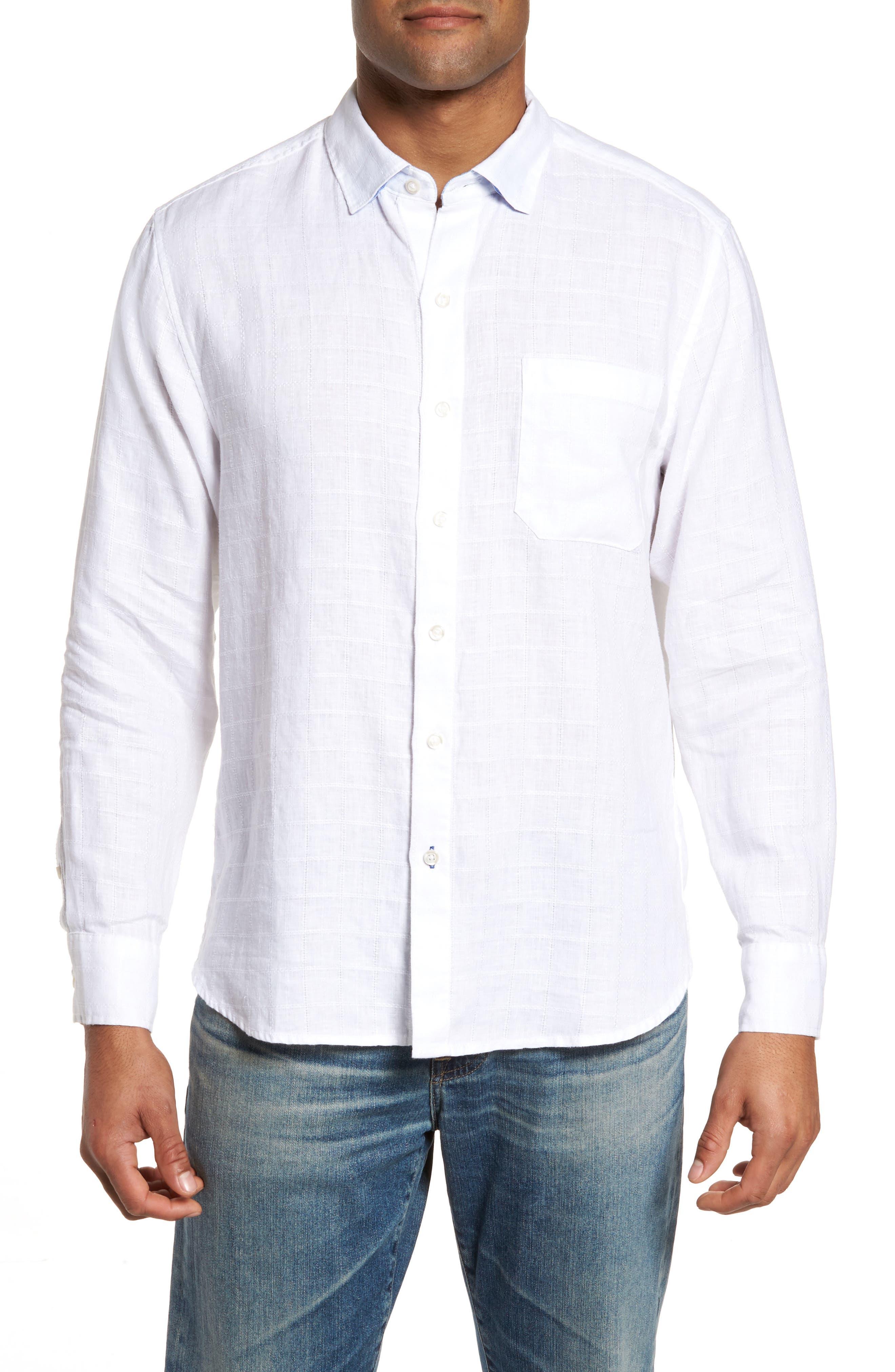 Main Image - Tommy Bahama Costa Cera Linen Sport Shirt