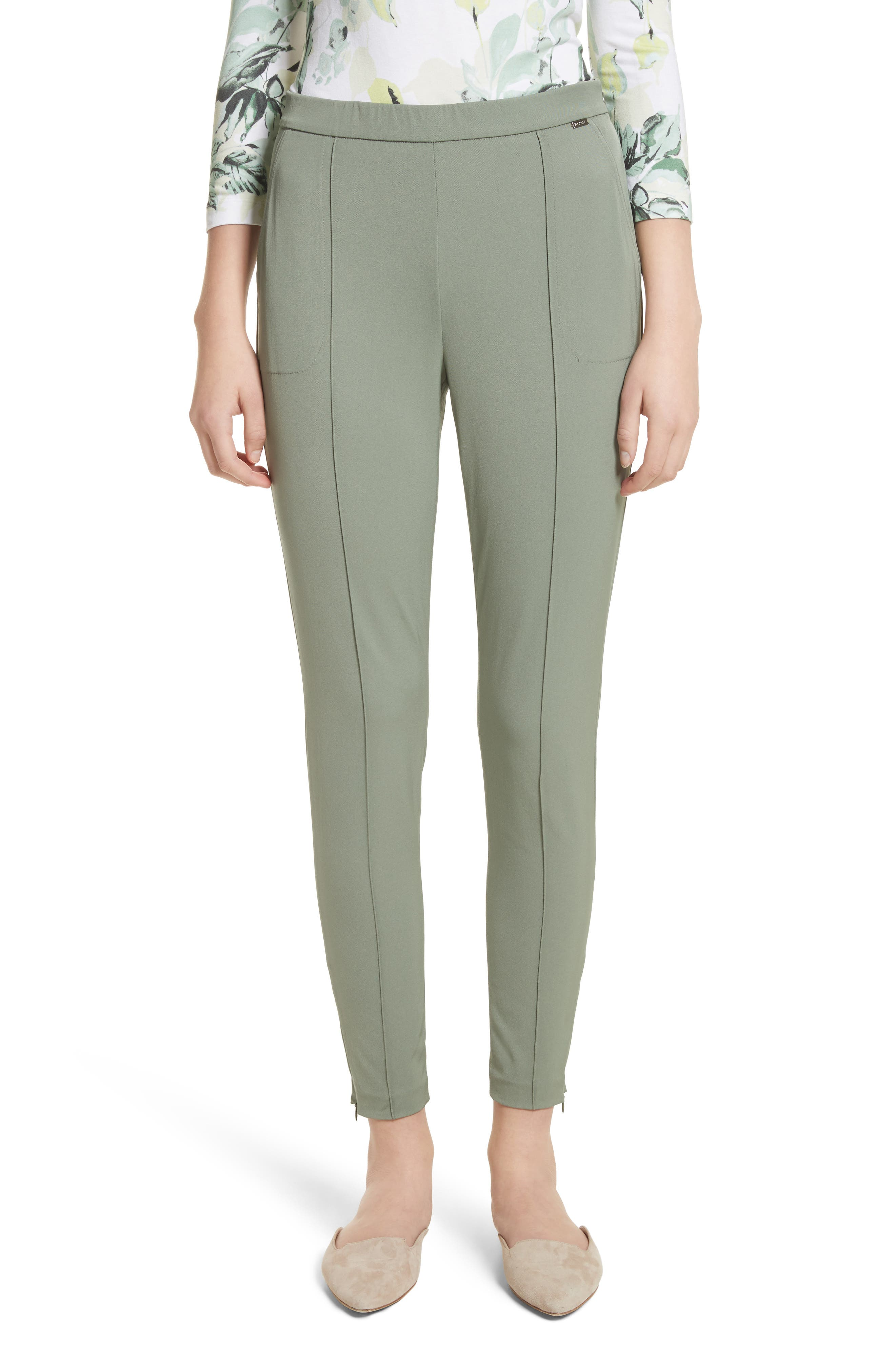 Main Image - St. John Collection Stretch Tech Twill Crop Leggings