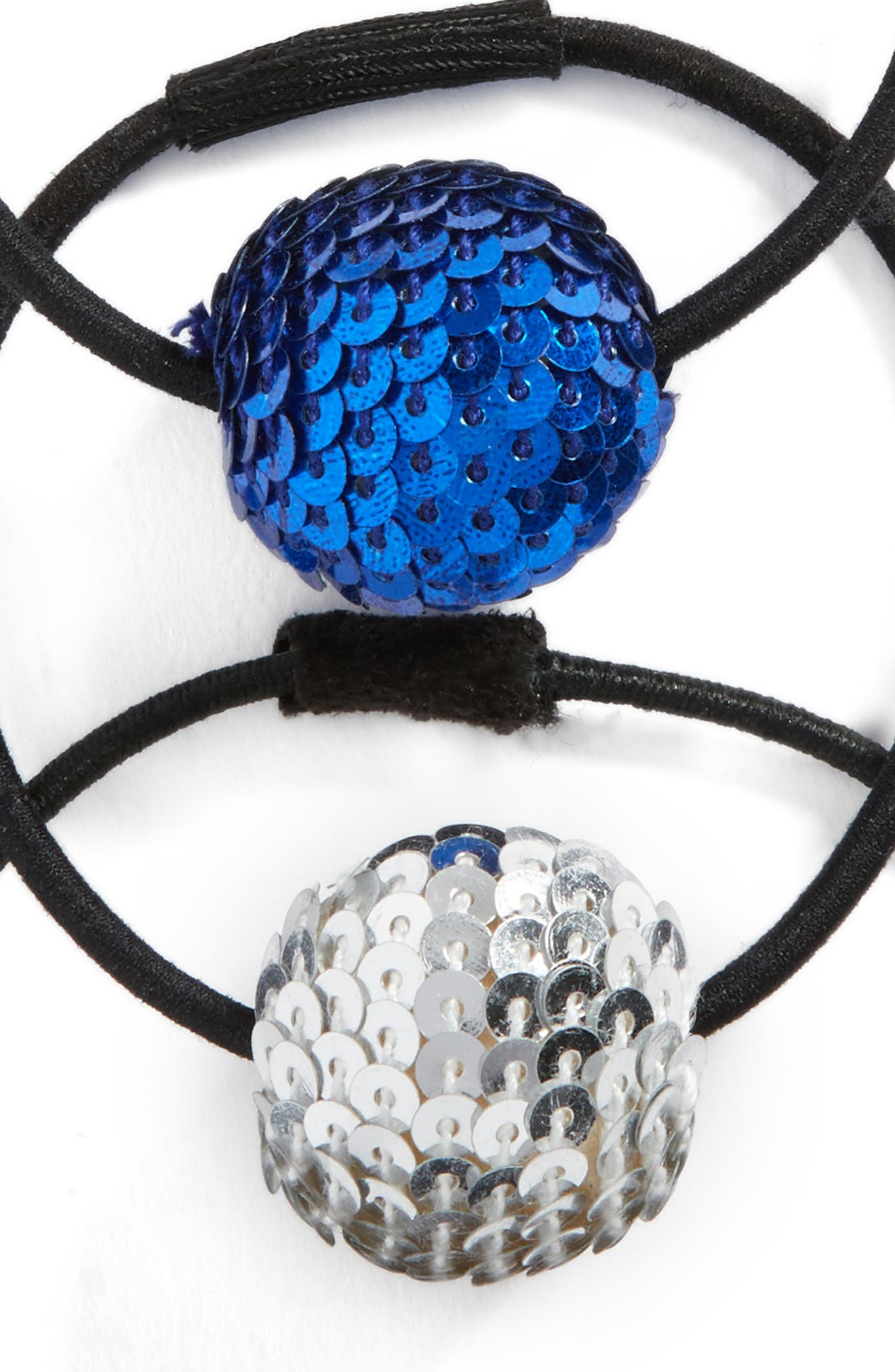3-Pack Sequin Disco Ball Pony Holders,                             Alternate thumbnail 2, color,                             Black Multi