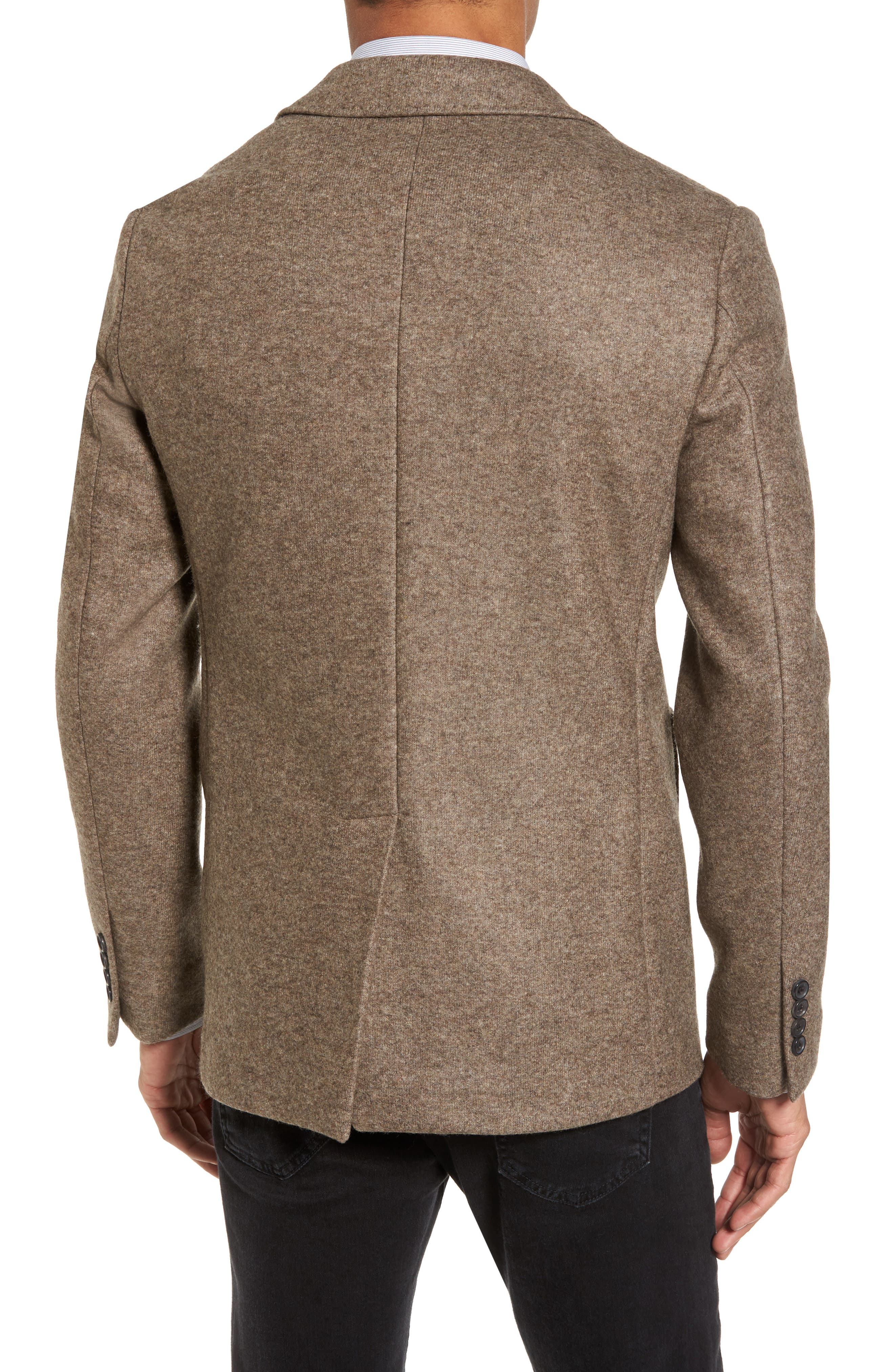 Dylan Knit Wool Blend Sport Coat,                             Alternate thumbnail 2, color,                             Taupe