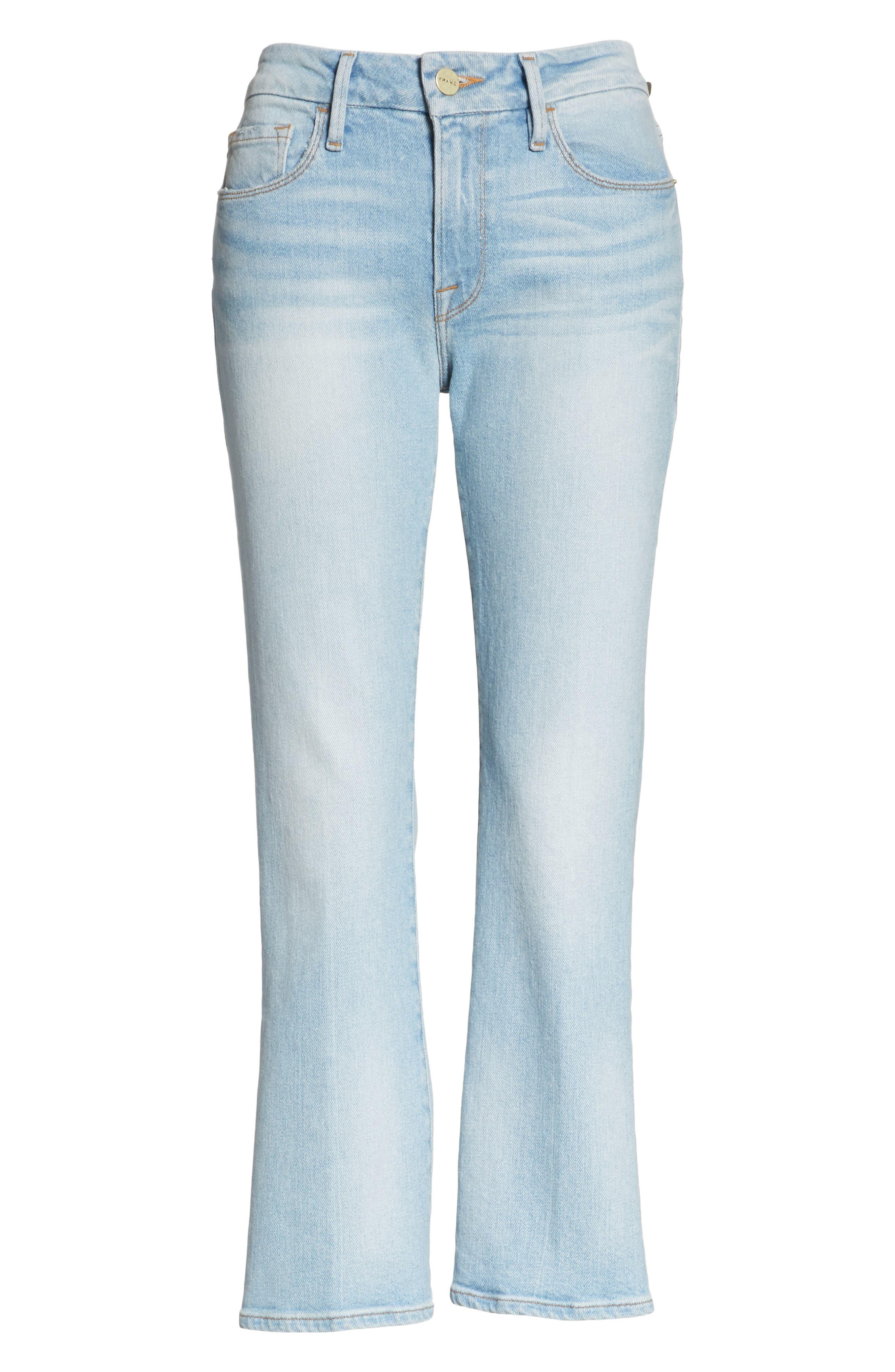 Le Crop Mini Boot Jeans,                             Alternate thumbnail 6, color,                             Adeline