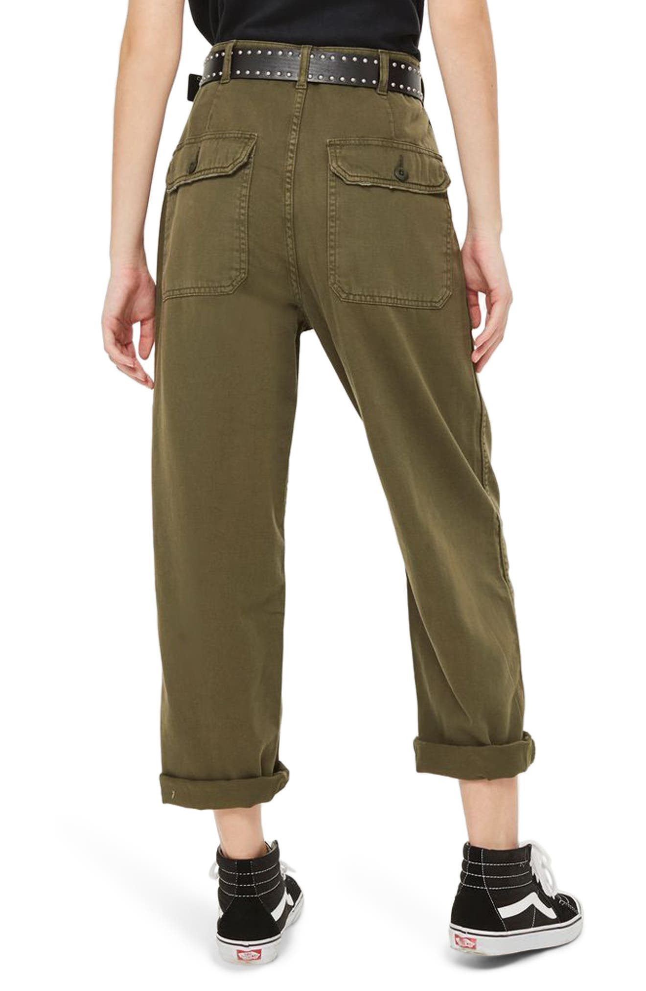 Alternate Image 2  - Topshop Wide Leg Utility Trousers