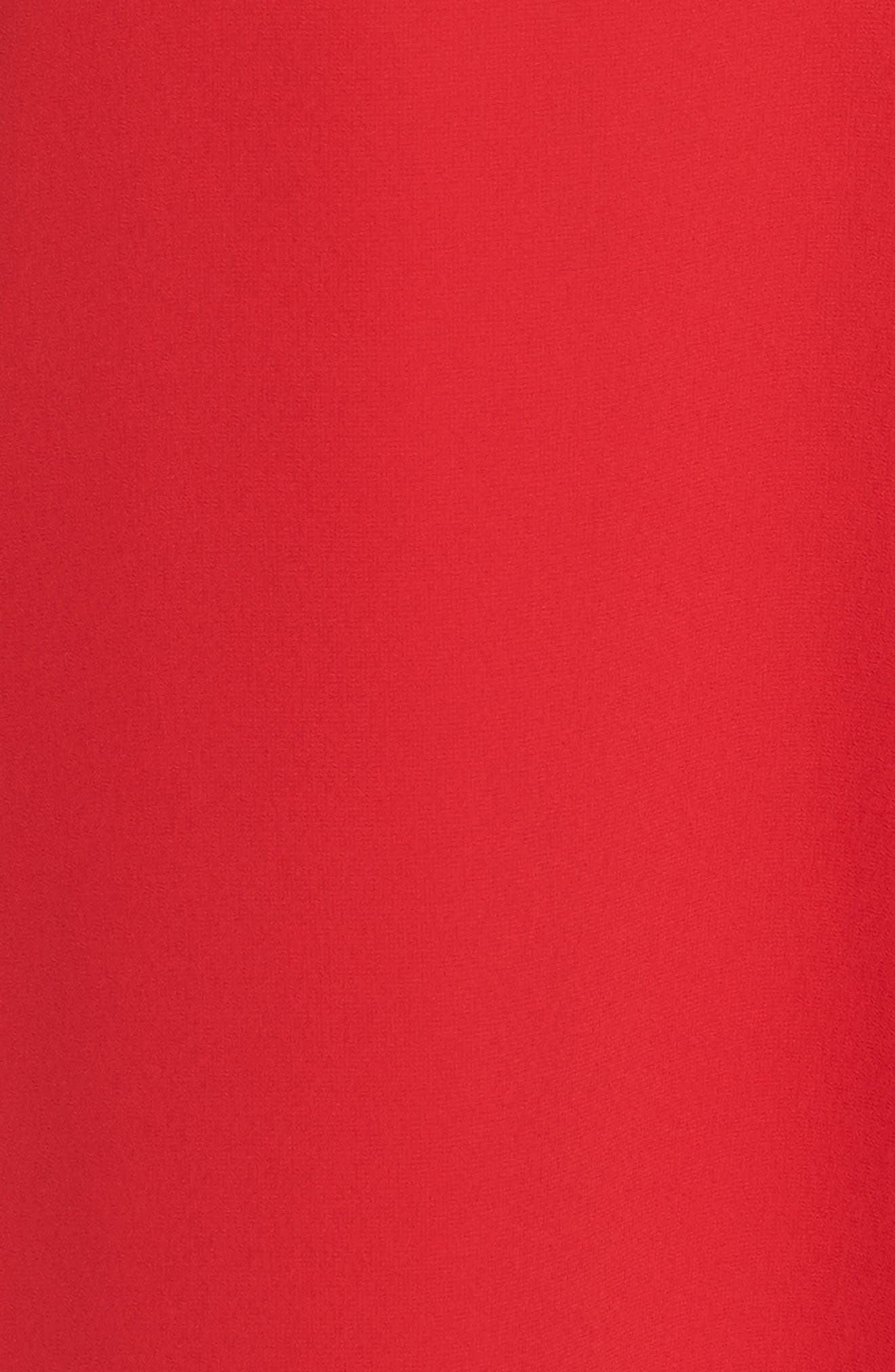 Souffle Chiffon Shift Dress,                             Alternate thumbnail 5, color,                             Crimson