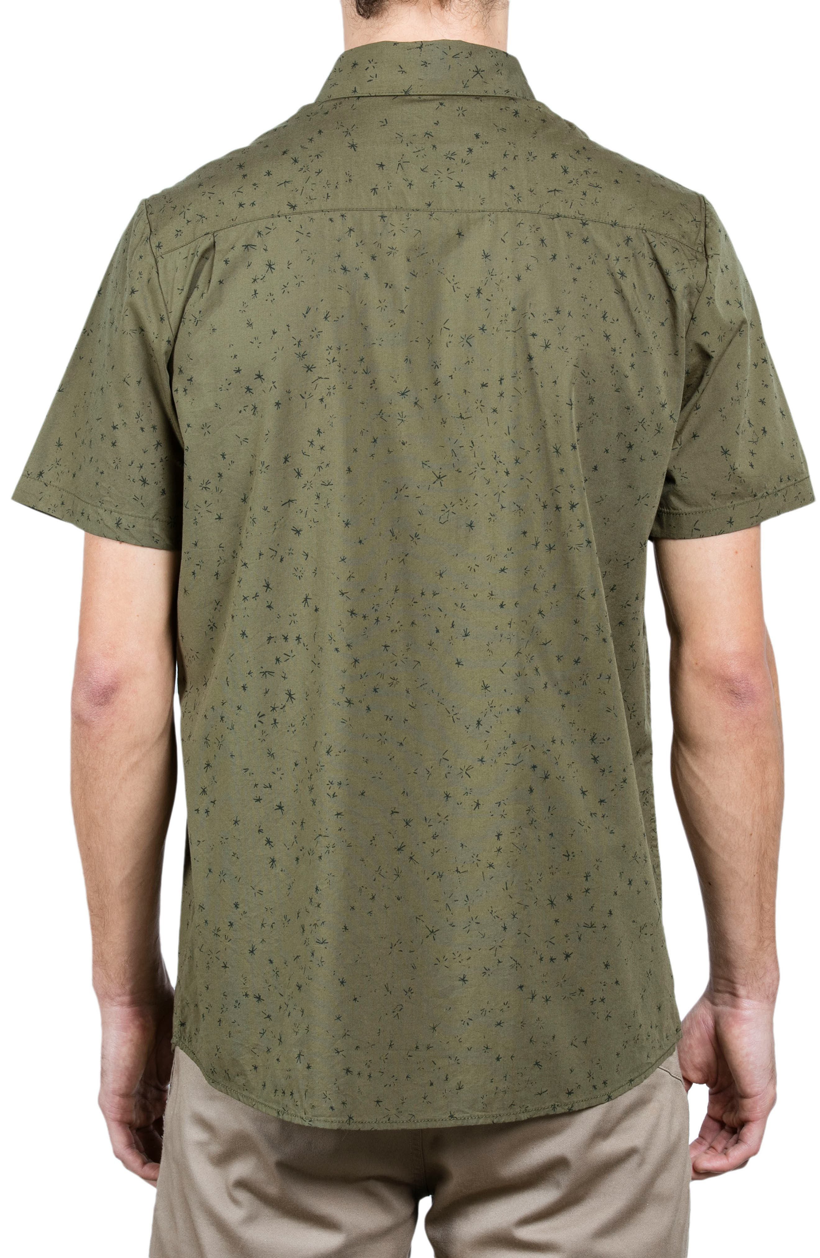 Smashed Stars Woven Shirt,                             Alternate thumbnail 2, color,                             Military
