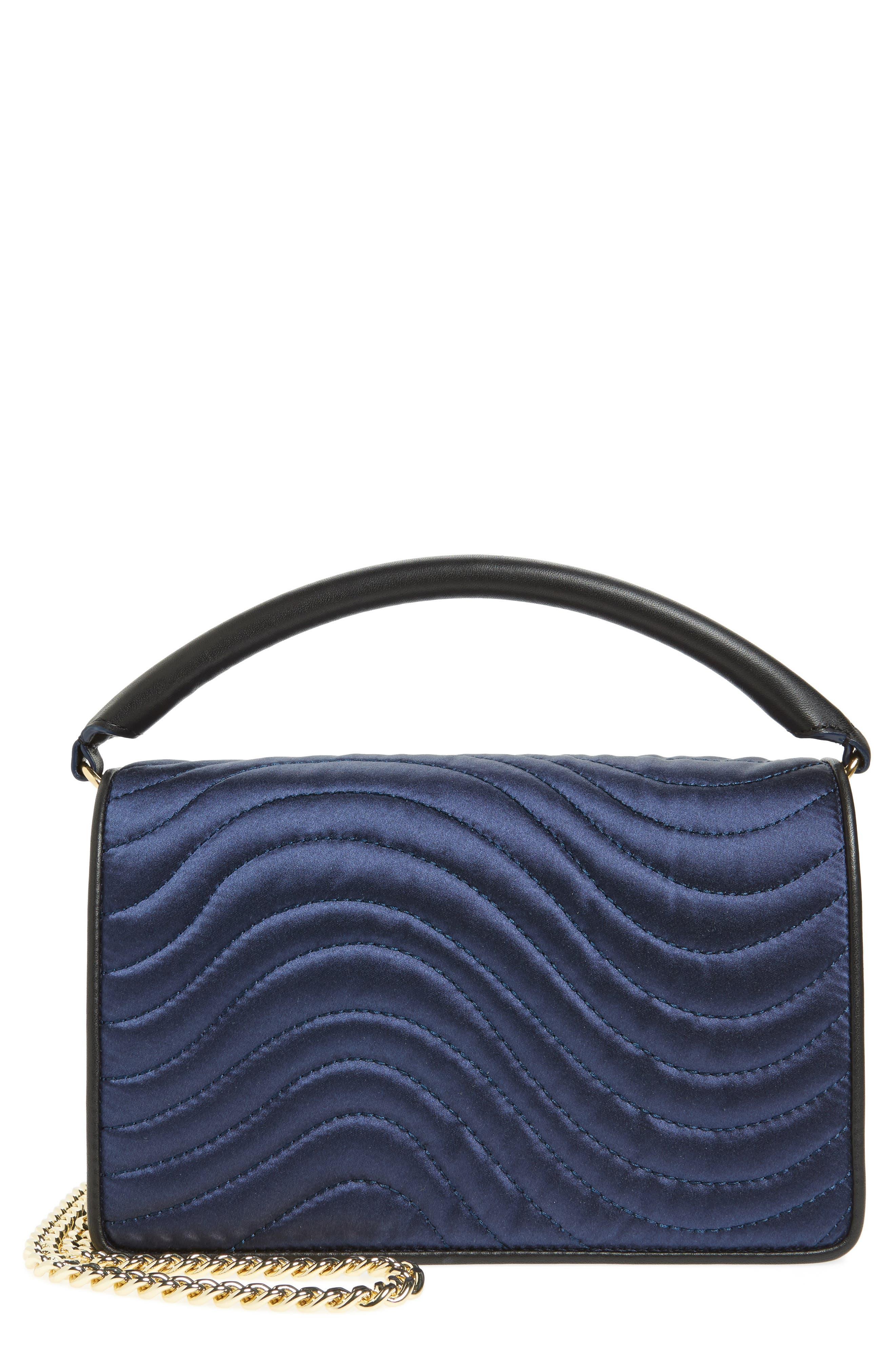 Bonne Soirée Quilted Top Handle Bag,                         Main,                         color, Navy