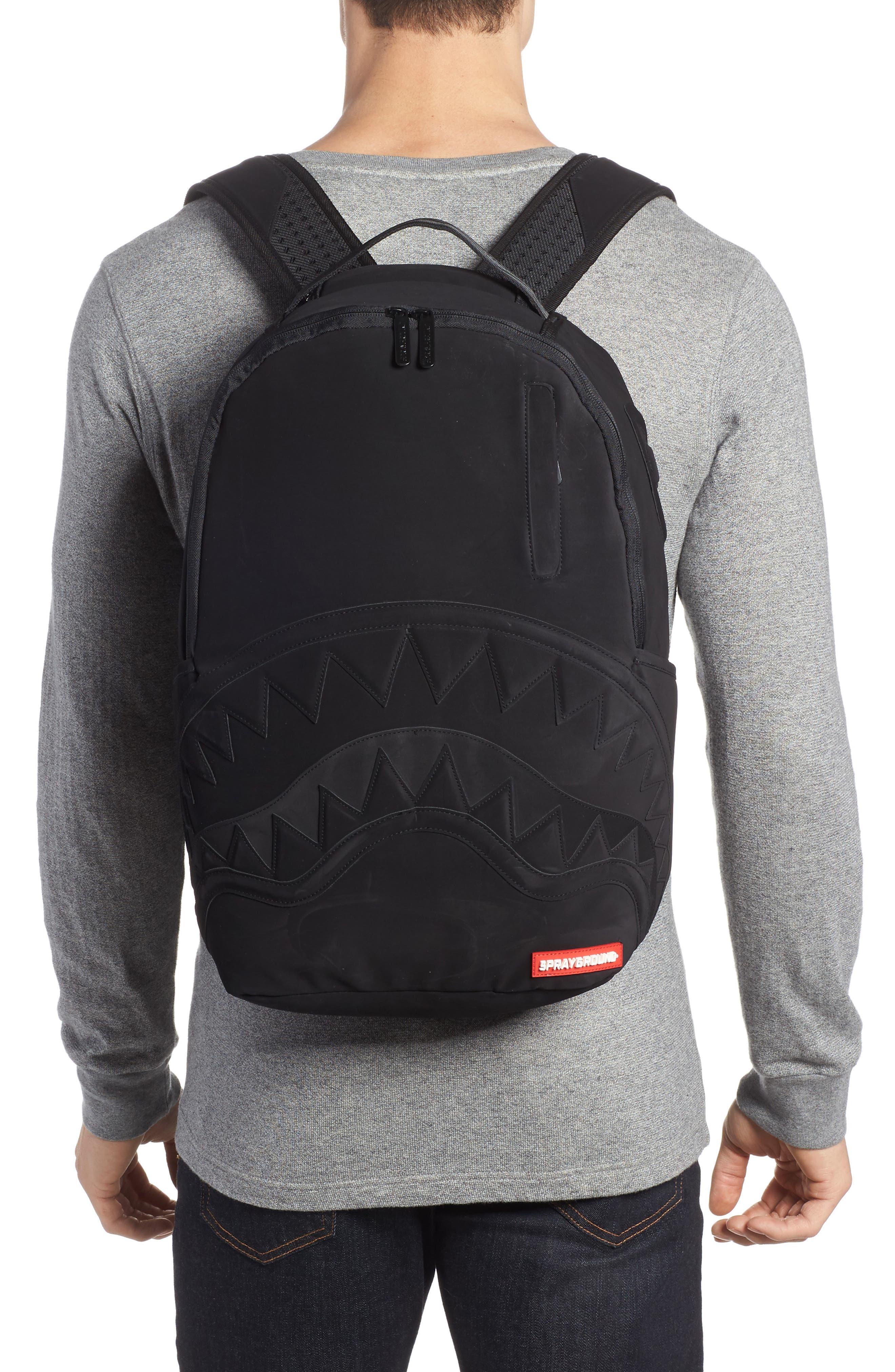 Ghost Shark Backpack,                             Alternate thumbnail 2, color,                             Black